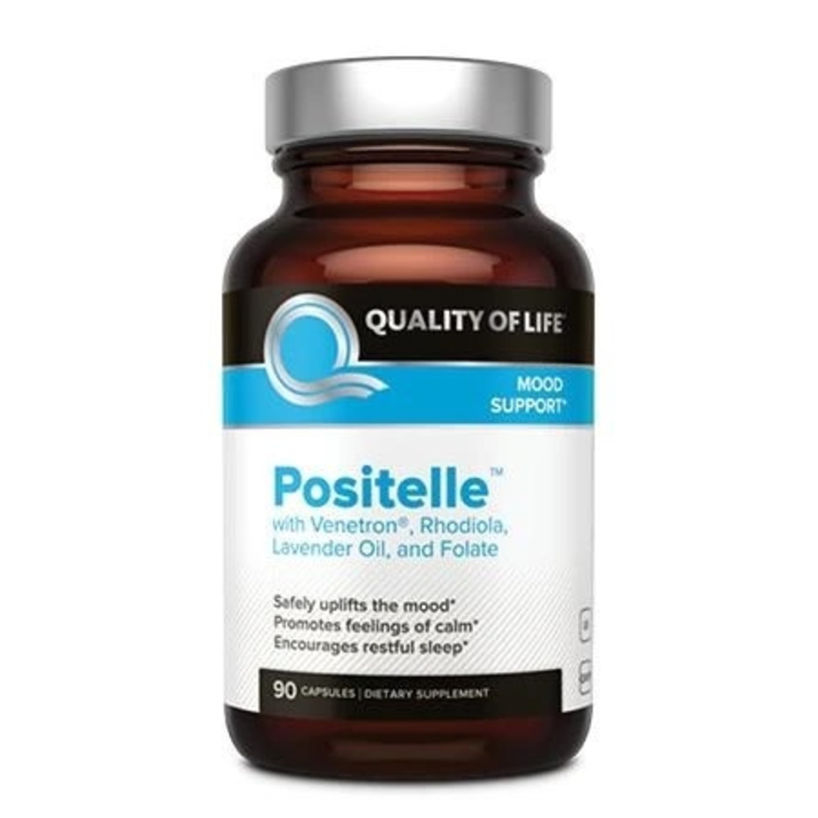 Quality of Life QOL Positelle with Venetron and Rhodiola 90ct