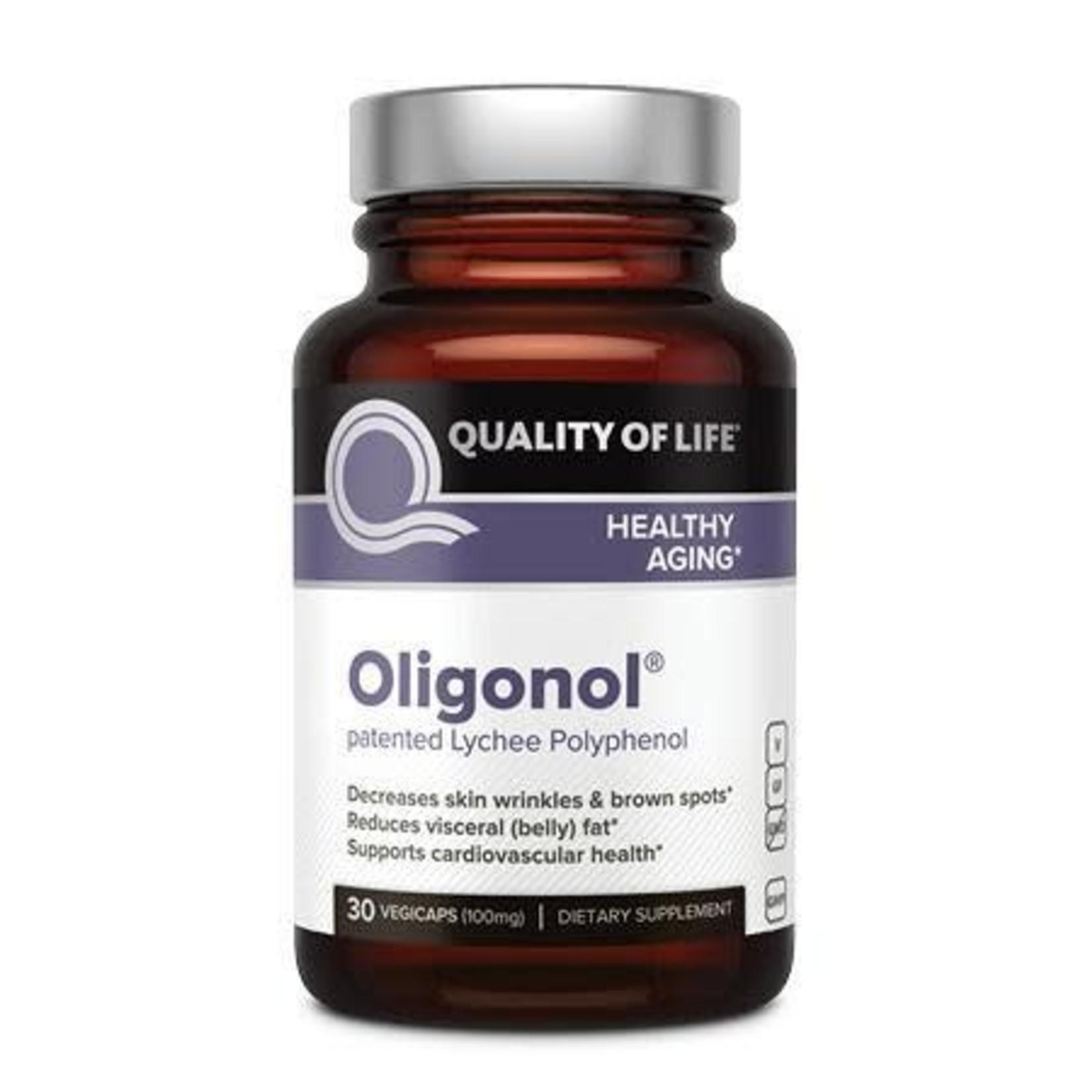 Quality of Life QOL Oligonol Patented Lychee Polyphenol 30ct