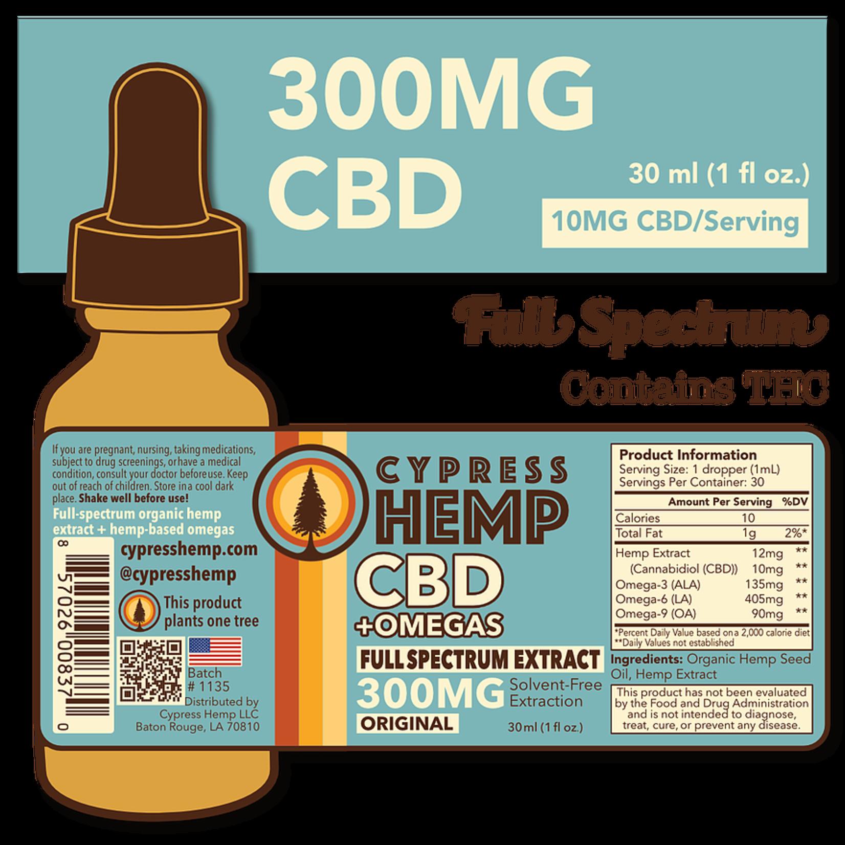 Cypress Hemp CBD + Omegas Full Spectrum 300mg