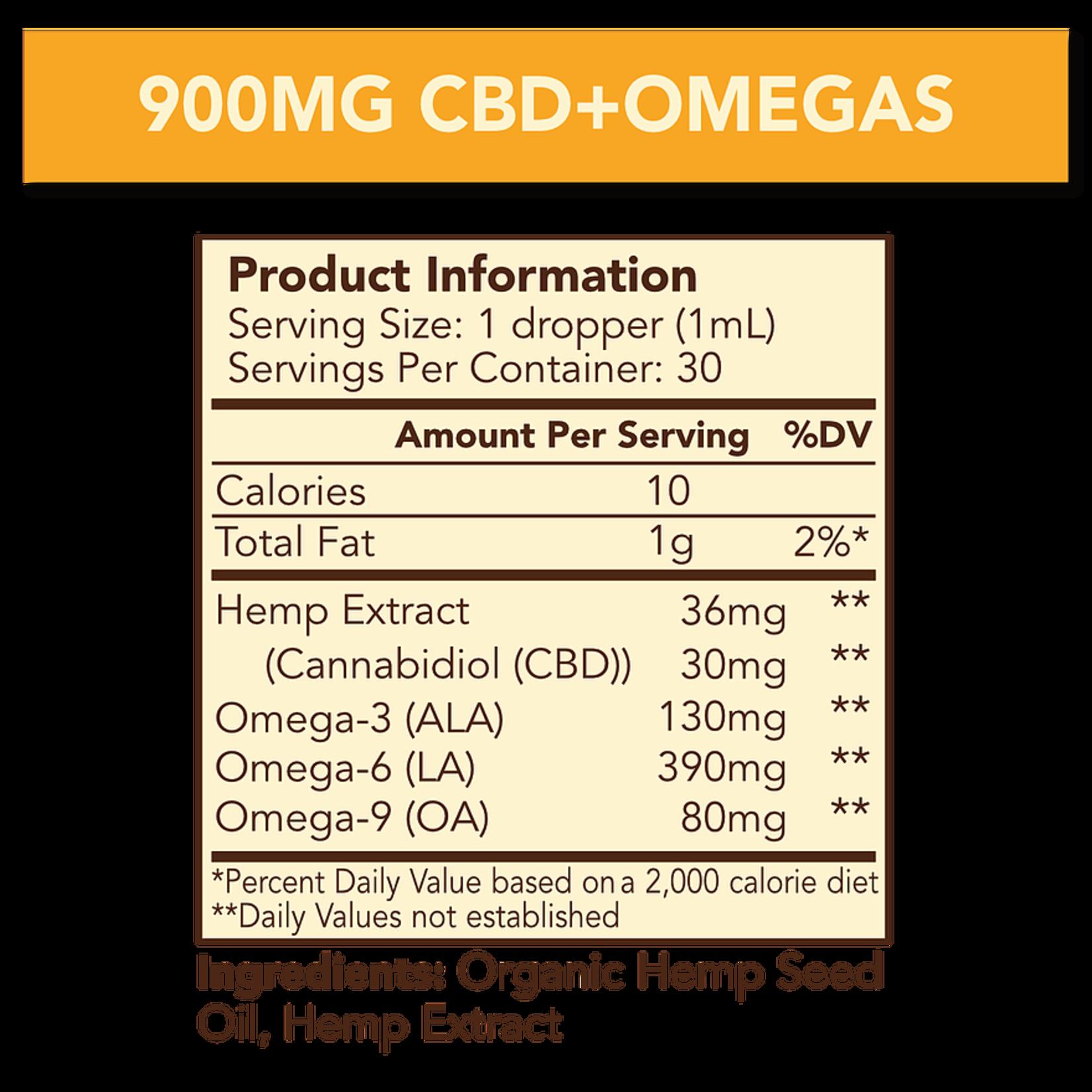 Cypress Hemp CBD + Omegas Full Spectrum 900mg