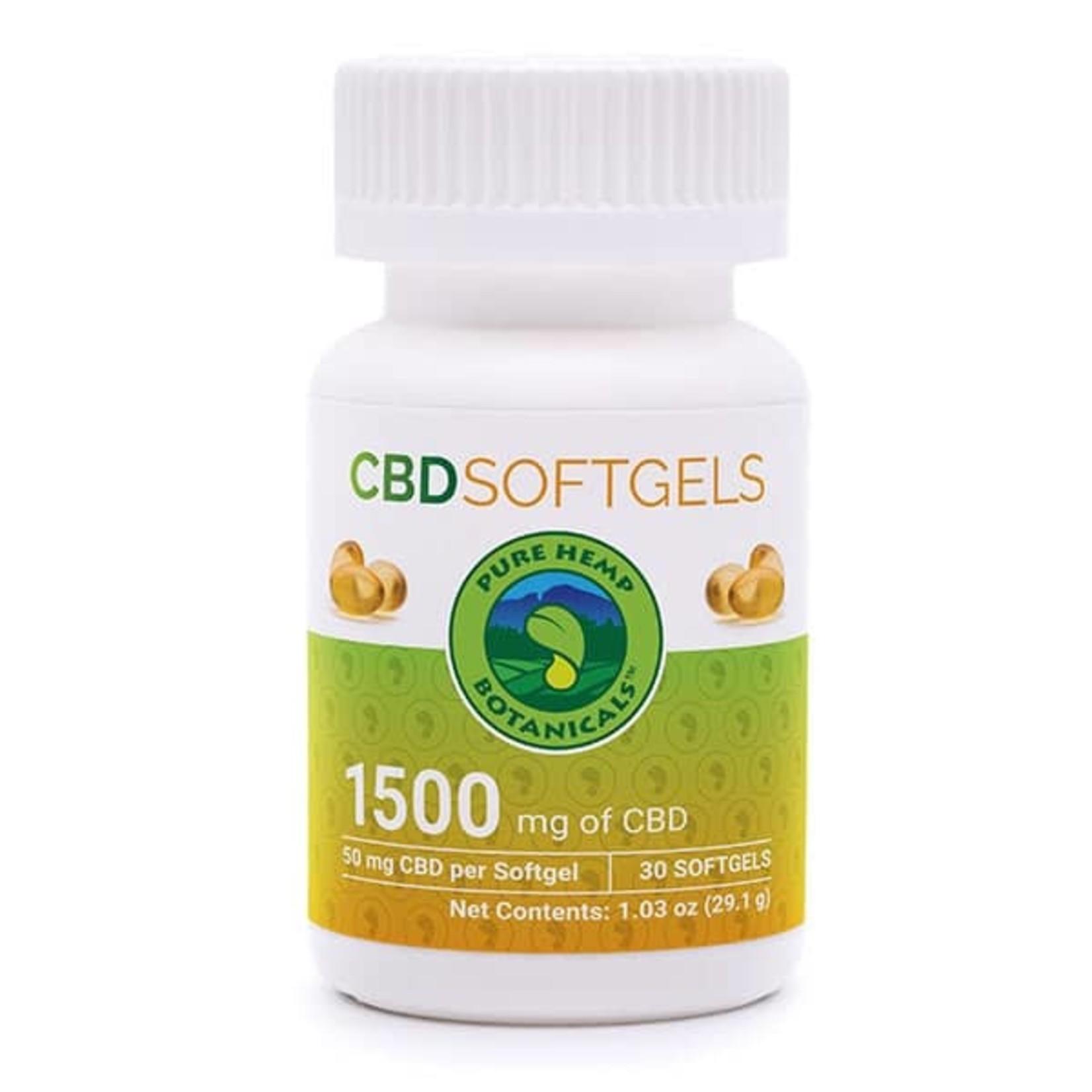 Pure Hemp Botanicals PHB CBD Softgels 1500mg / 50mg 30ct