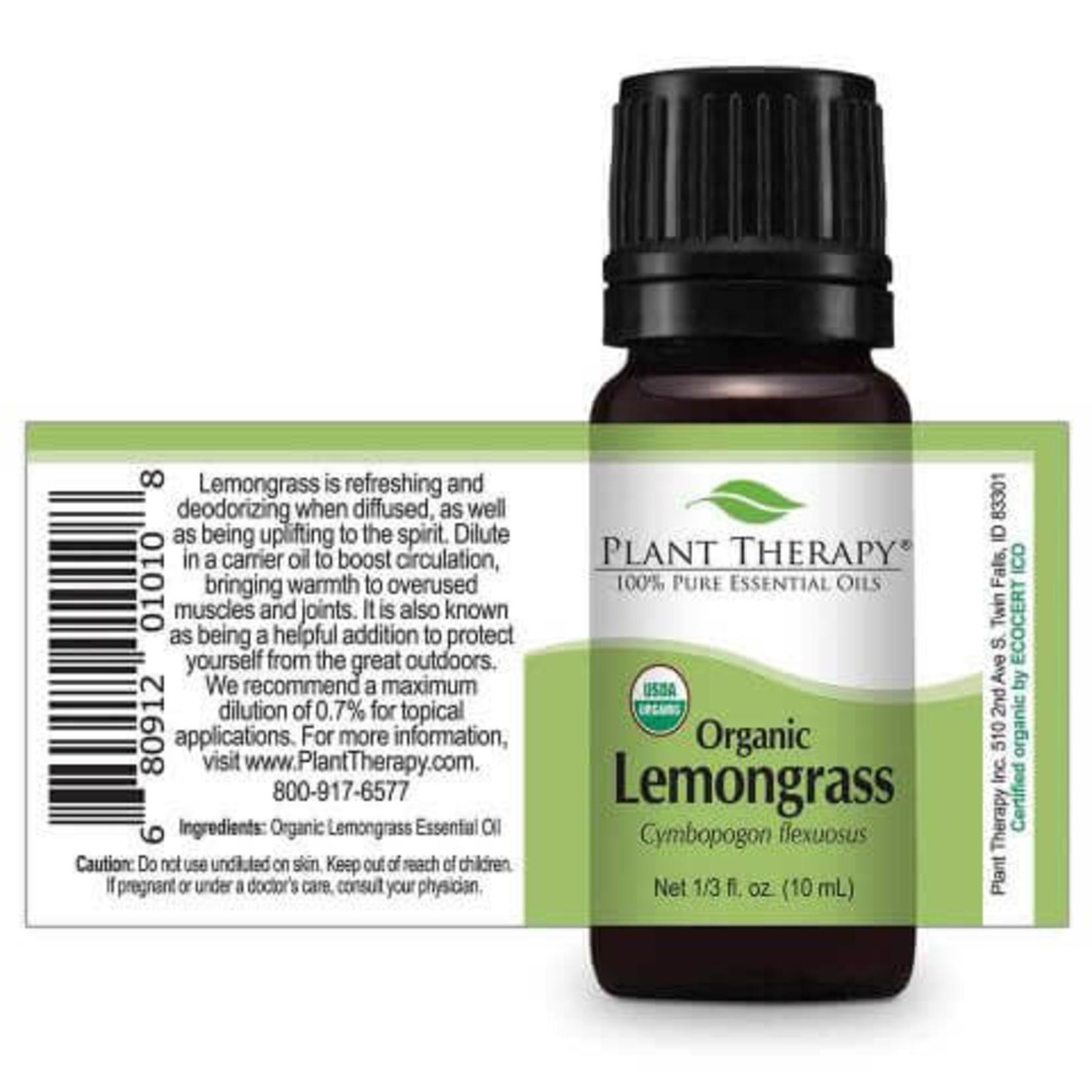 Plant Therapy PT Organic Lemongrass Essential Oil 10ml