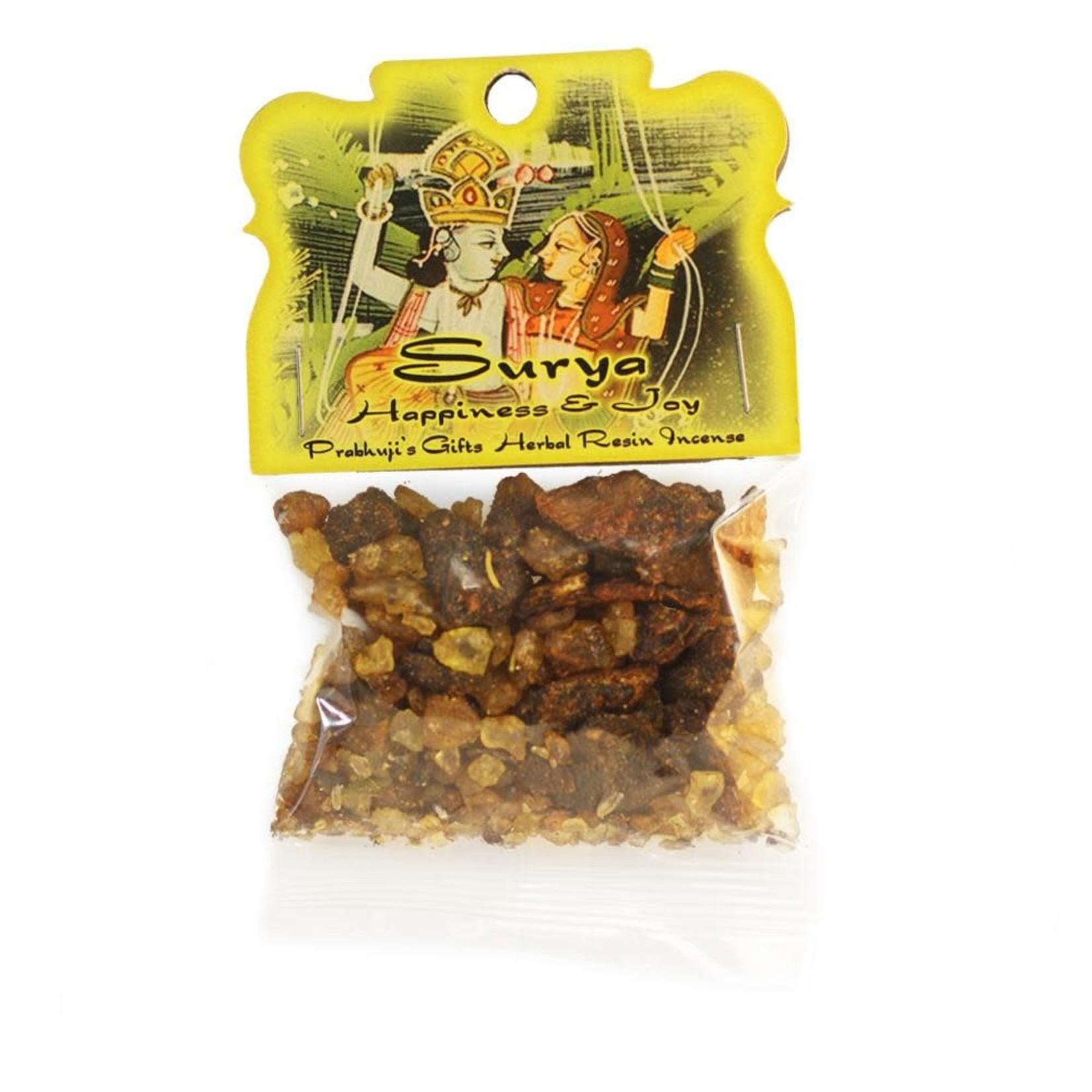 Prabhujis Gifts Surya - Happiness and Joy Resin Incense