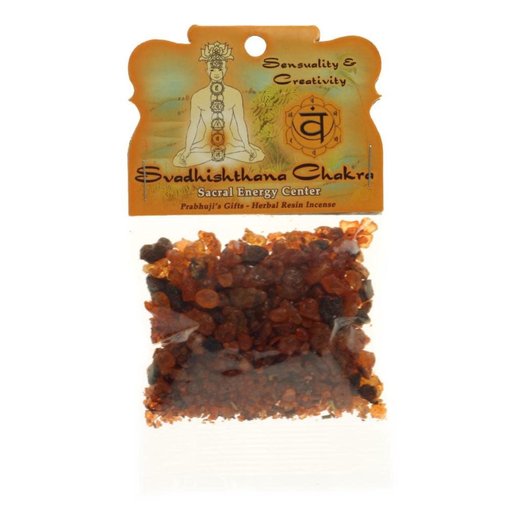 Prabhujis Gifts Sacral Chakra Svadhishtana - Sensuality and Creativity Resin Incense