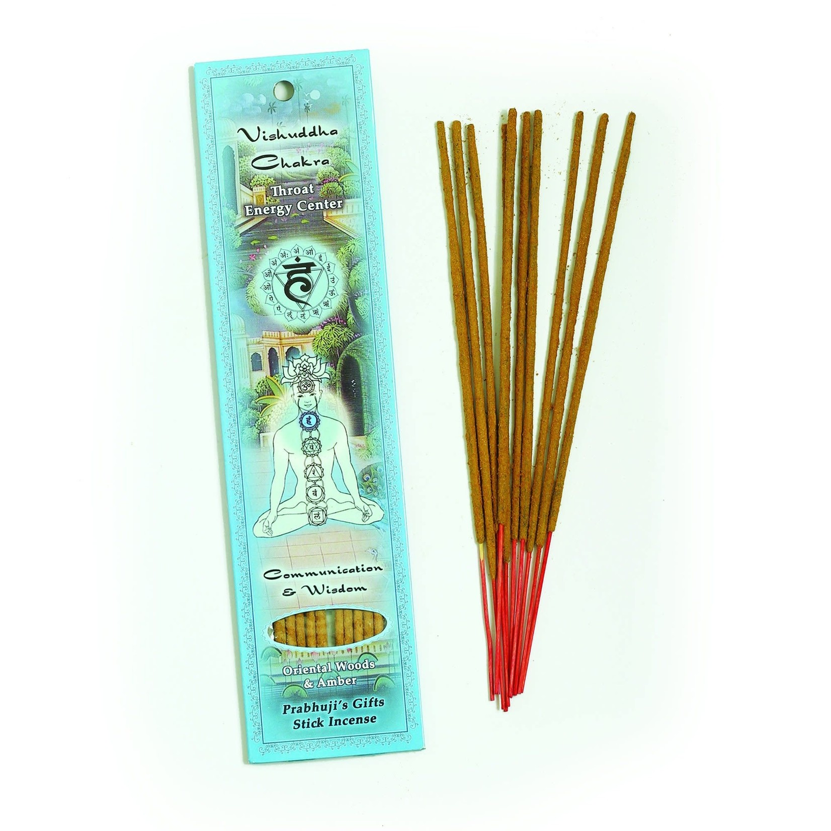 Prabhujis Gifts Throat Chakra Vishuddha - Communication and Wisdom Incense Stick