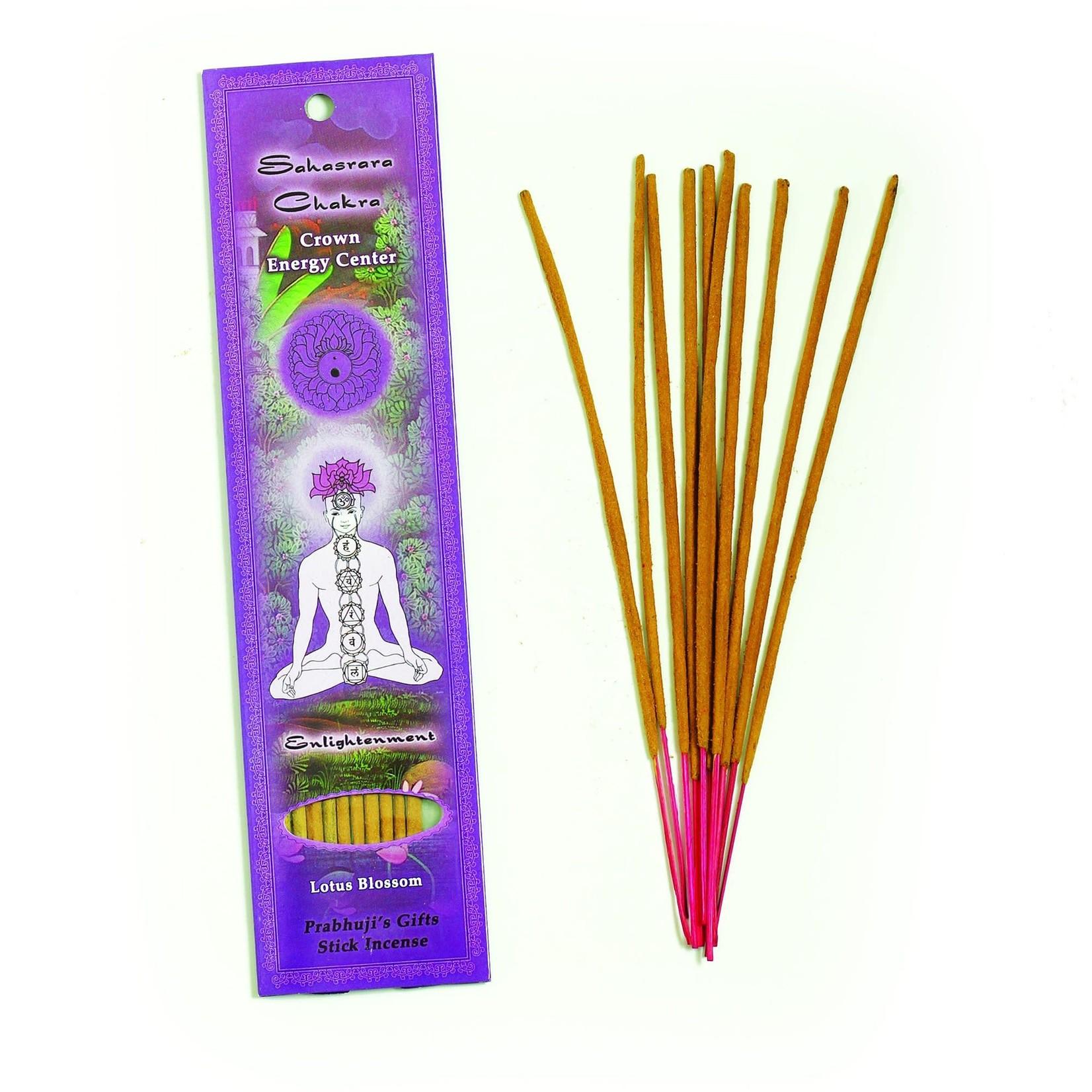 Prabhujis Gifts Crown Chakra Sahasrara - Enlightenment Incense Sticks