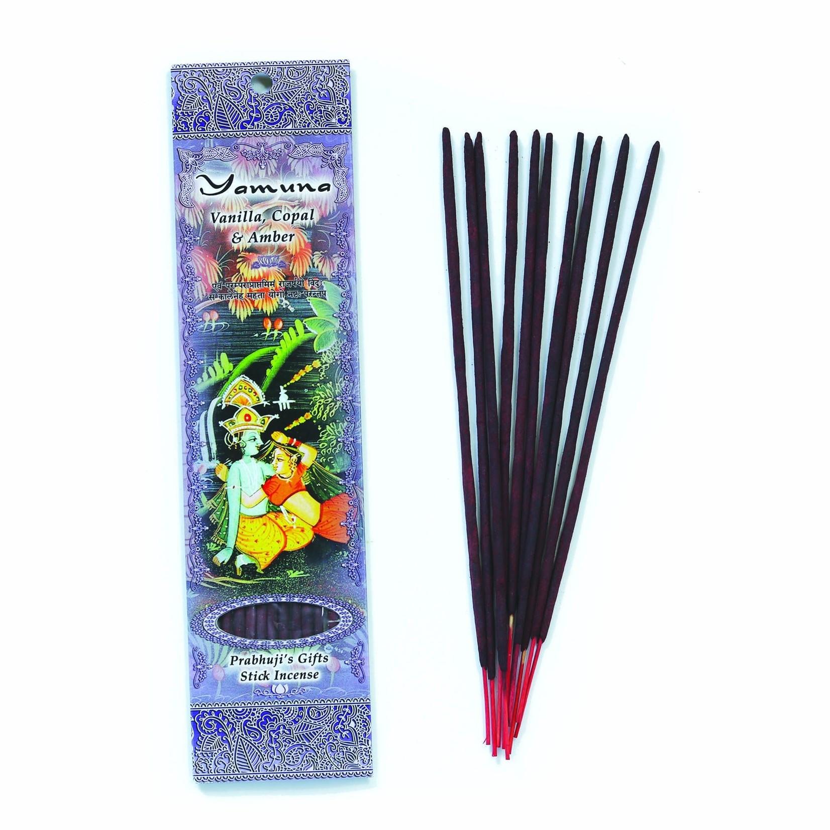 Prabhujis Gifts Yamuna  Vanilla, Copal and Amber Incense sticks