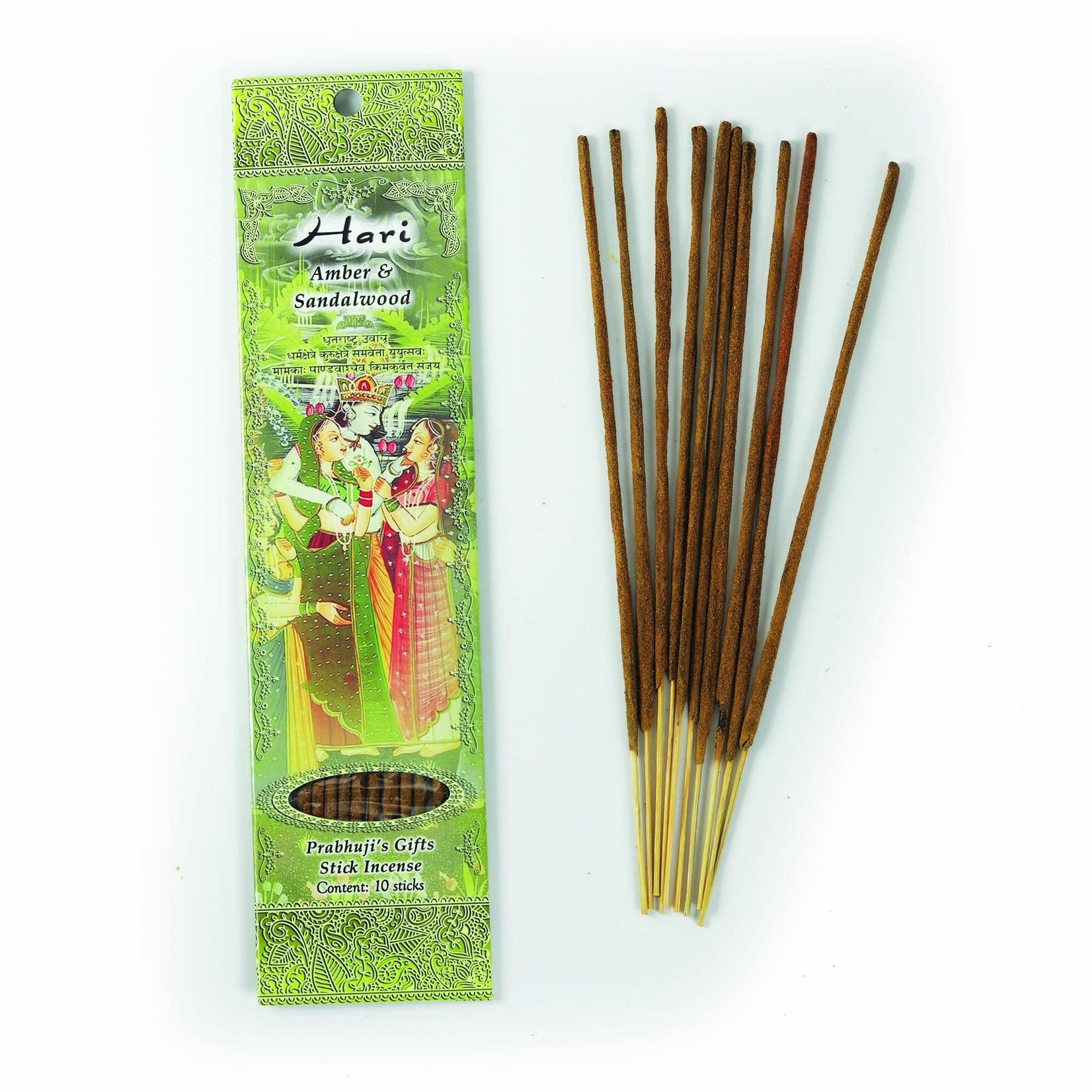 Prabhujis Gifts Hari - Amber and Sandalwood Incense Sticks