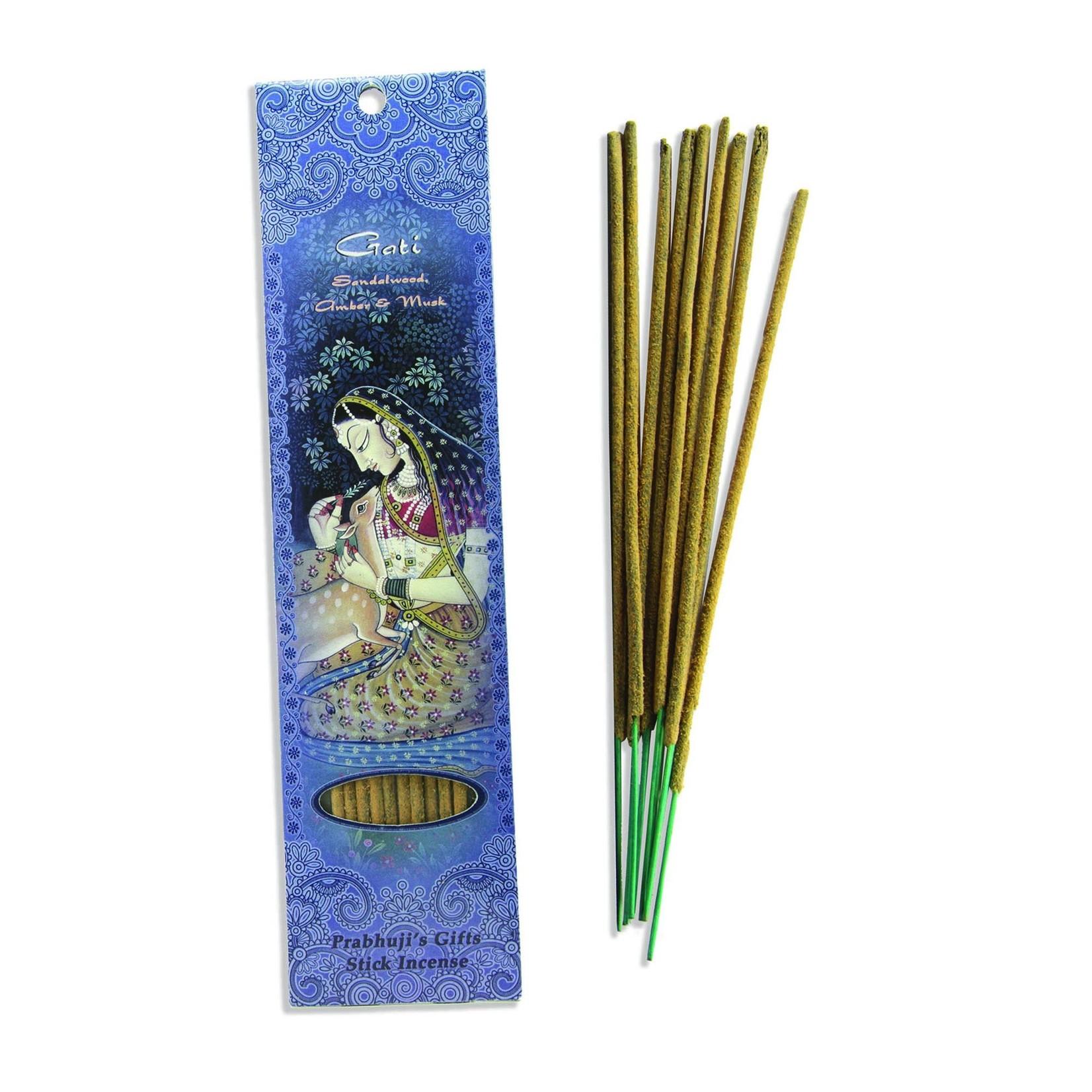 Prabhujis Gifts Gati - Sandalwood, Amber, Musk Incense sticks