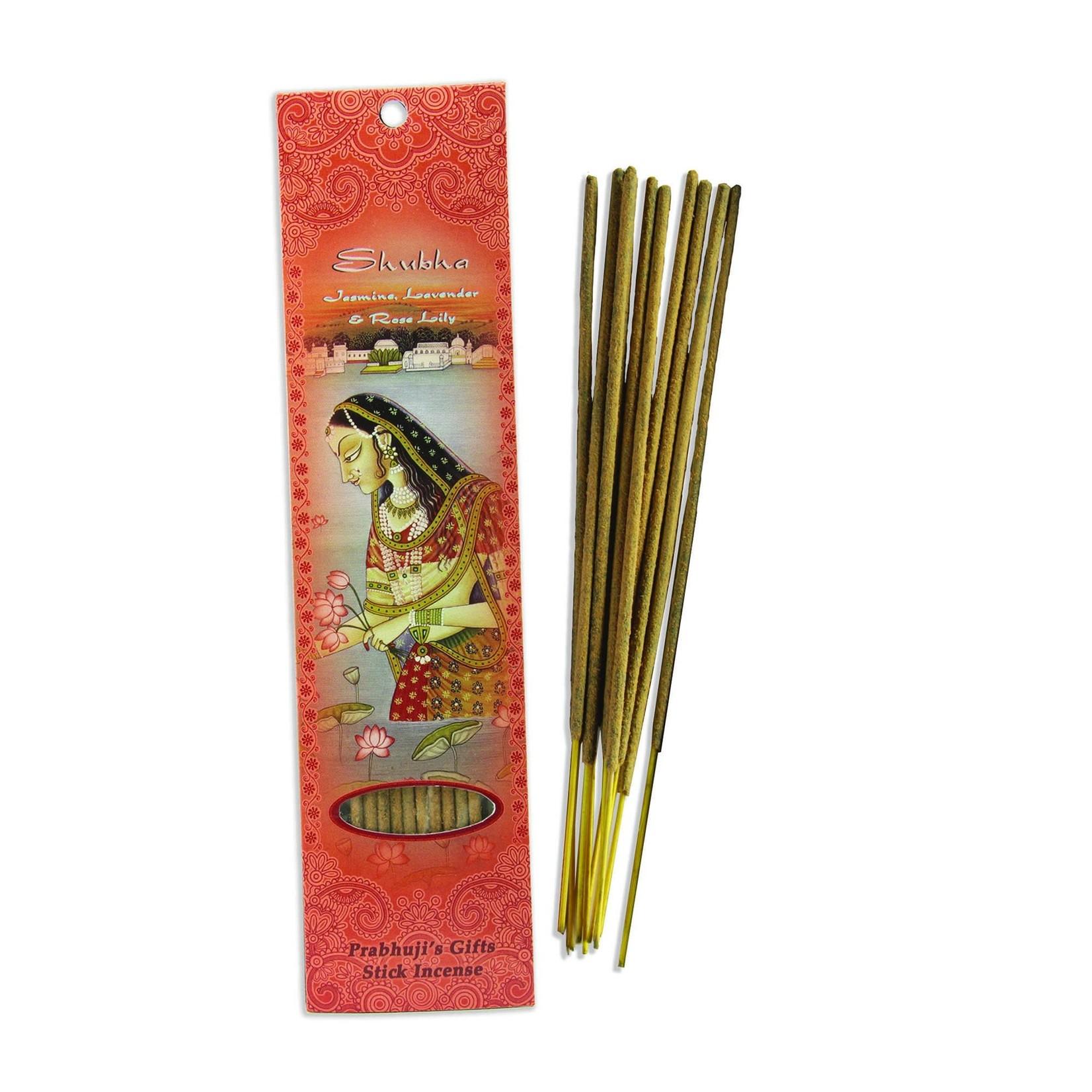 Prabhujis Gifts Shubha - Jasmine, Lavender, Rose Lily Incense Sticks