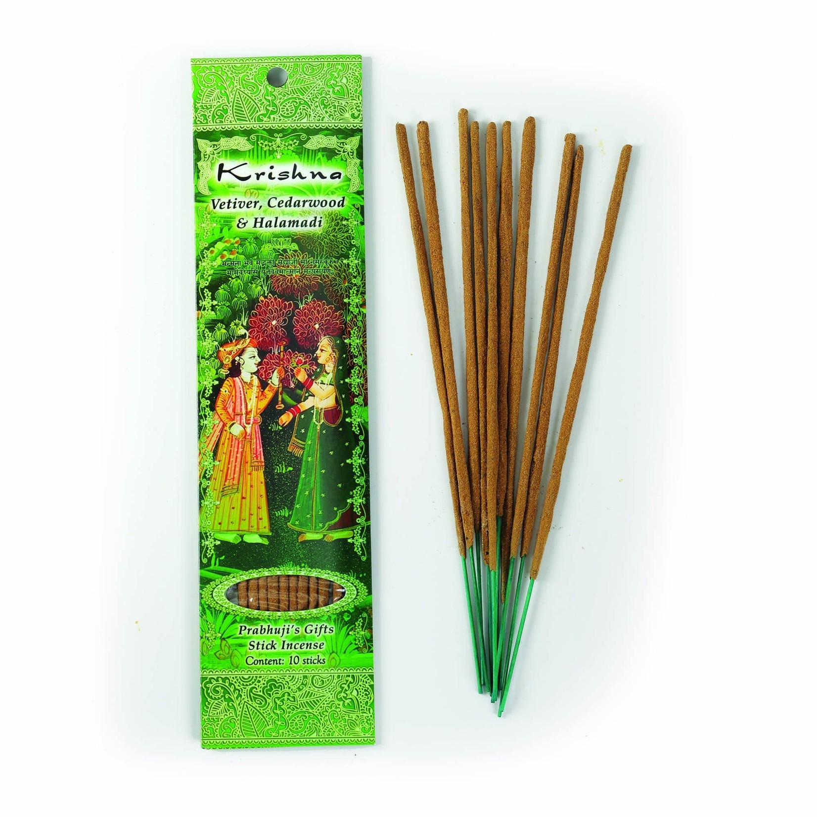 Prabhujis Gifts Krishna - Vetiver, Cedarwood, Halamadi Incense Sticks