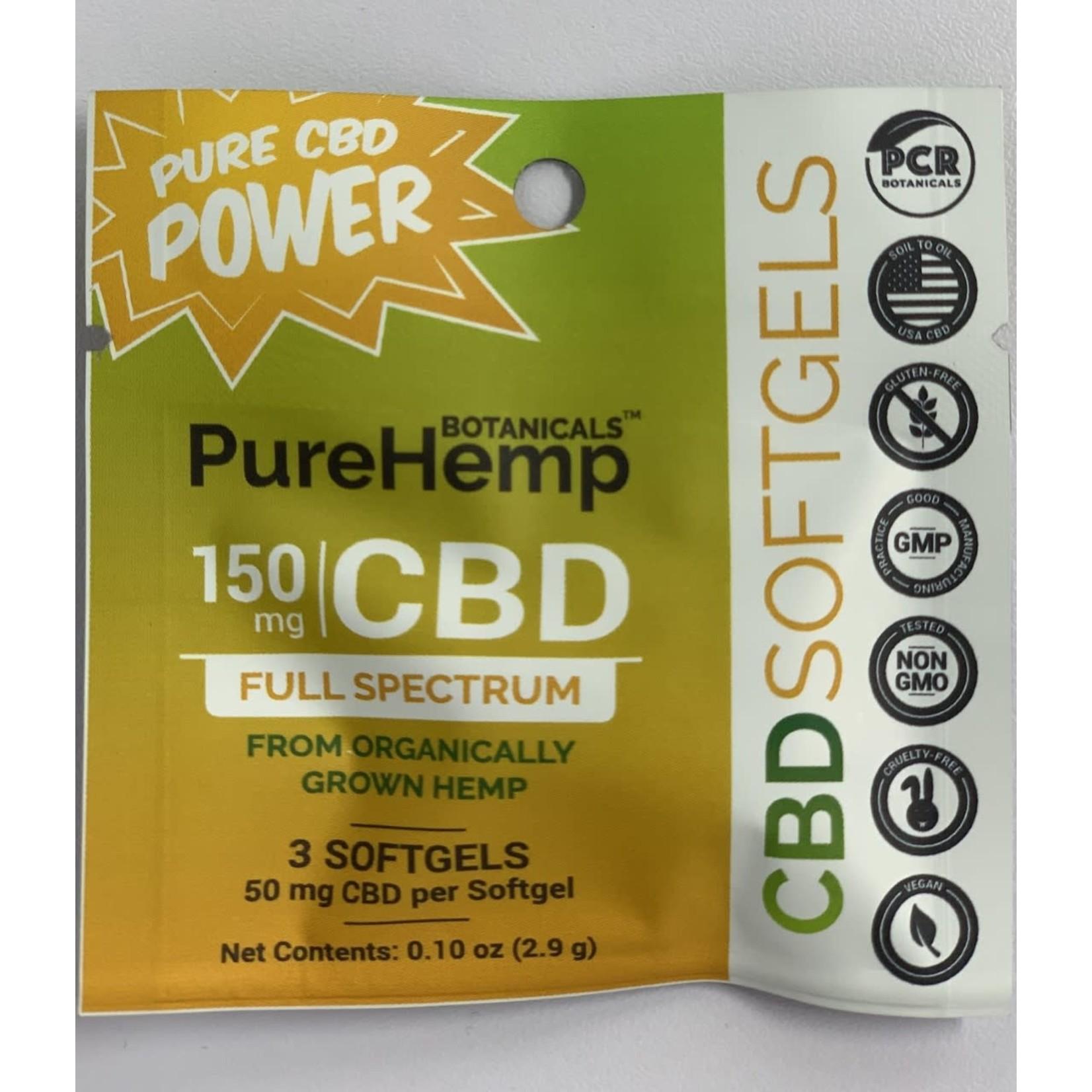 Pure Hemp Botanicals PHB Softgels Sample 150mg CBD capsule 3 count