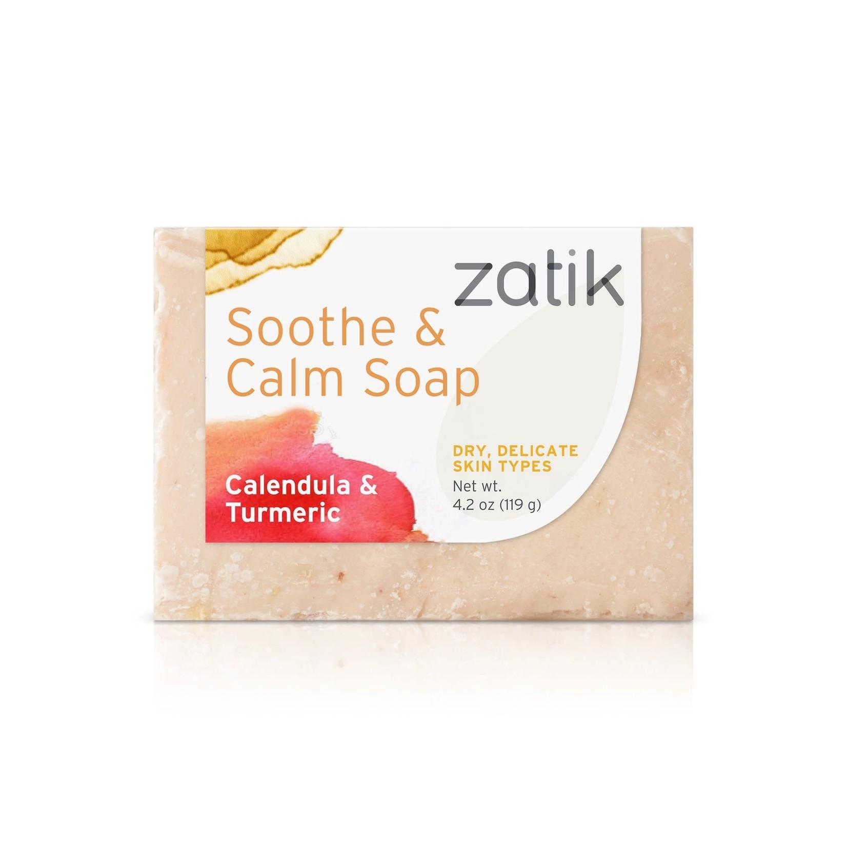Zatik Inc. Zatik Soothe & Calm Soap Calendula & Turmeric 4.2oz