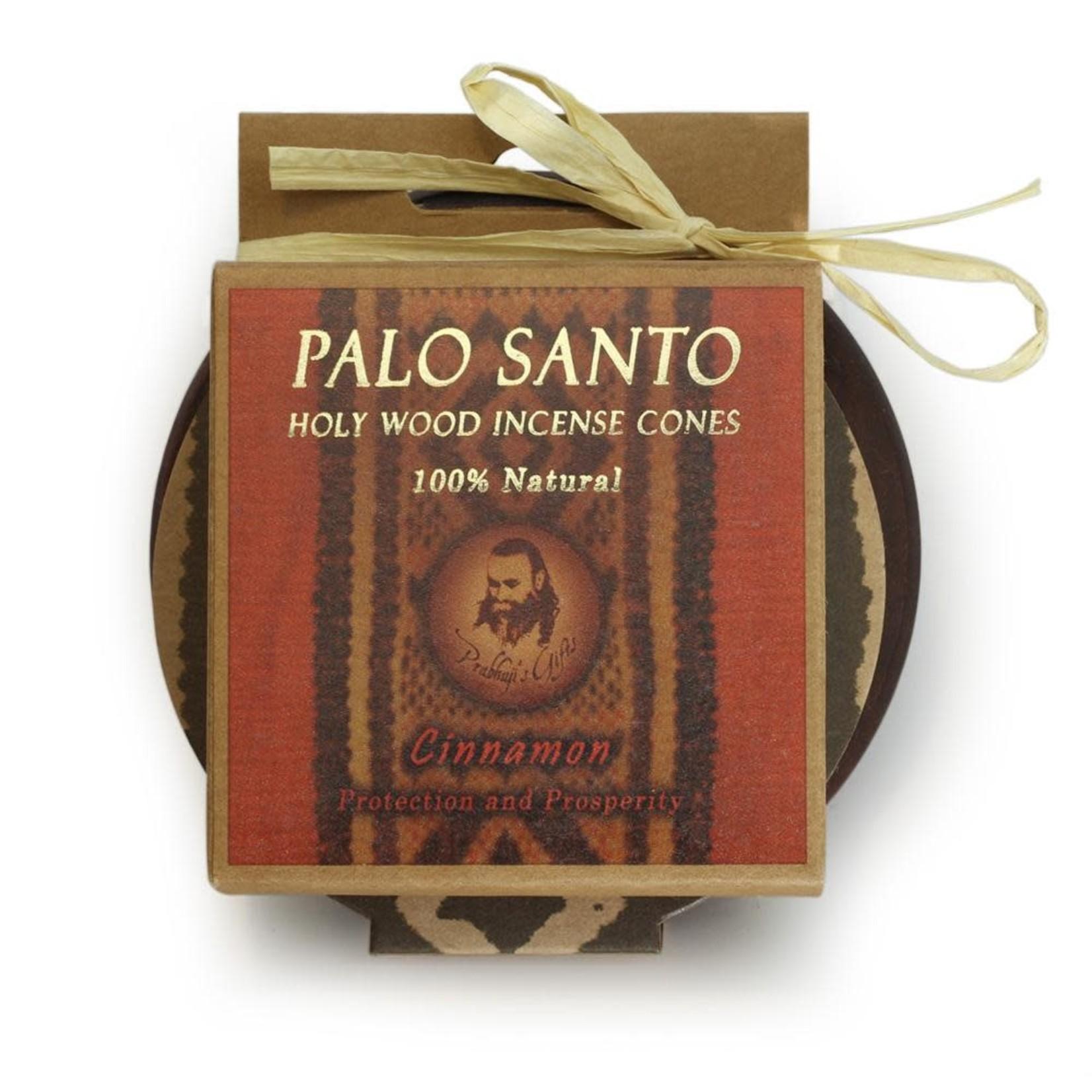 Prabhujis Gifts Palo Santo Cinnamon Cones with Burner