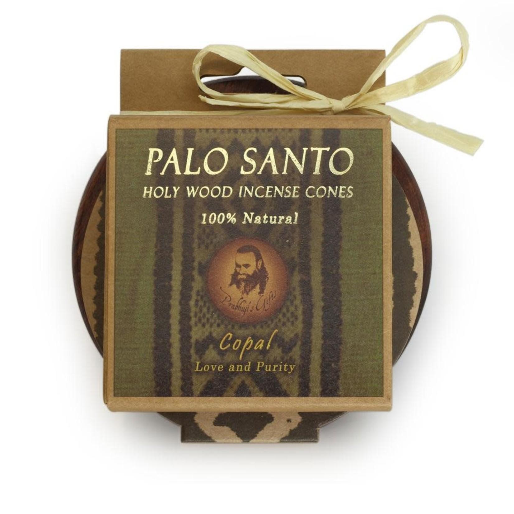 Prabhujis Gifts Palo Santo Copal Cones with Burner