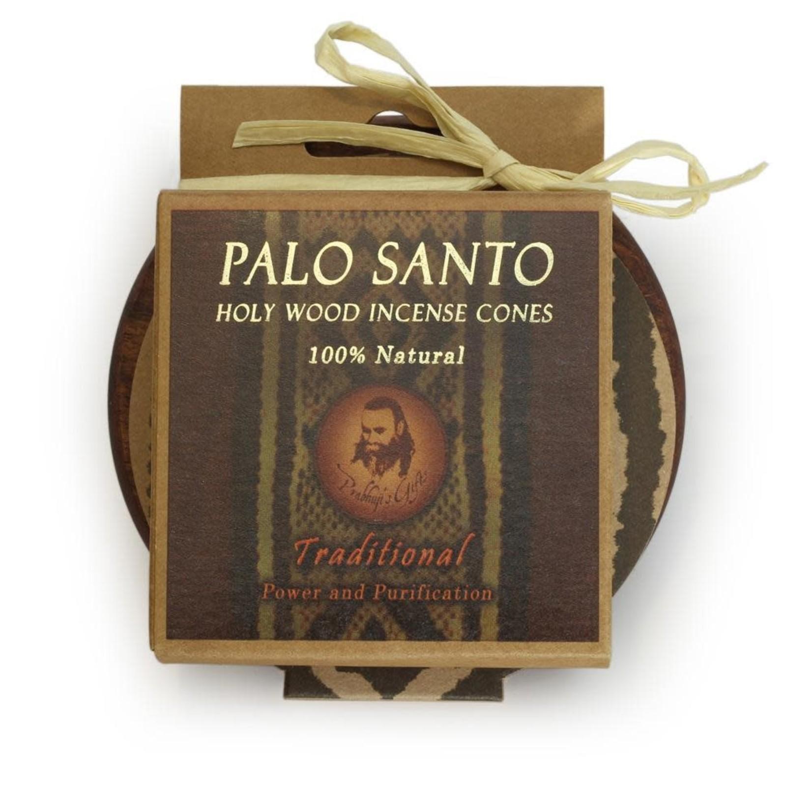 Prabhujis Gifts Palo Santo Traditional Cones with Burner