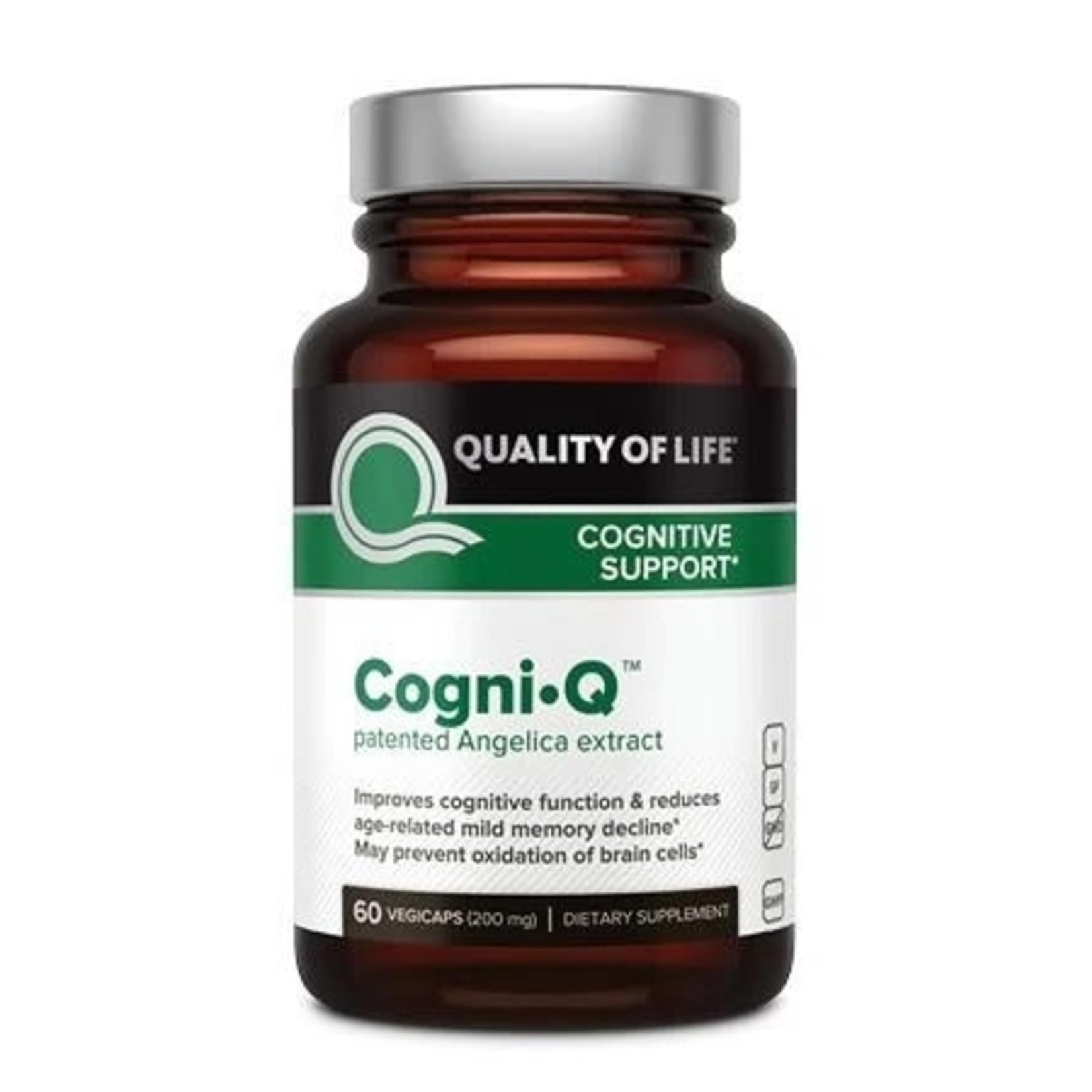 Quality of Life QOL Cogni Q 60 Vegicaps