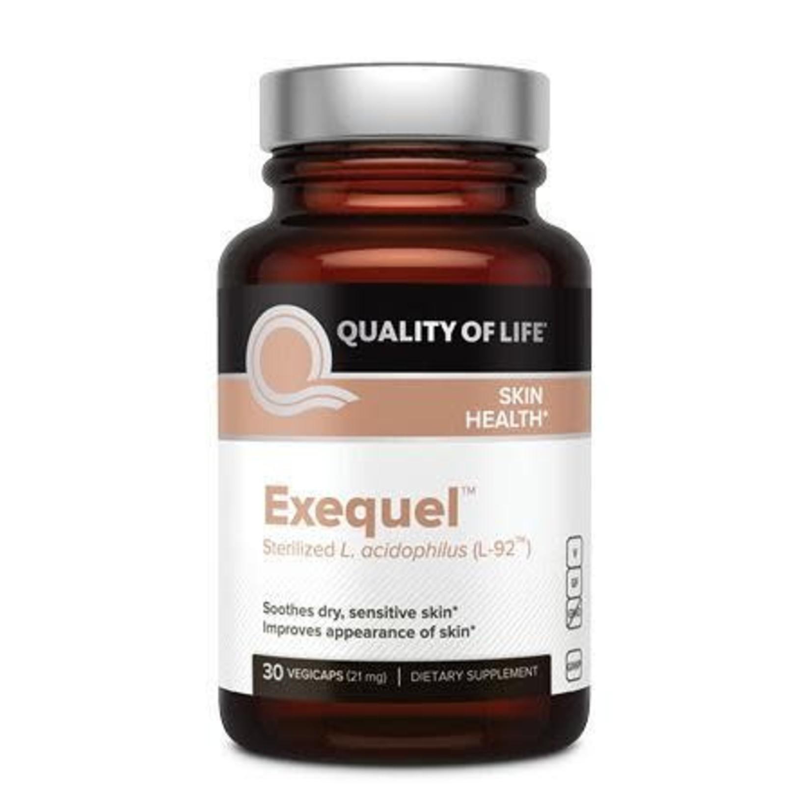 Quality of Life QOL Exequel Skin Health 30 Vegi caps