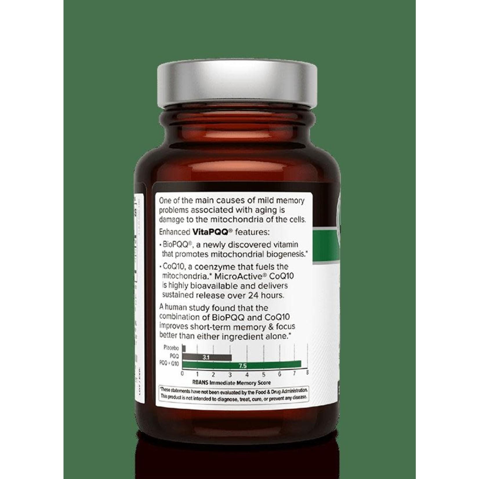 Quality of Life QOL Enhanced VitaPQQ with CoQ10 30 Vegicaps