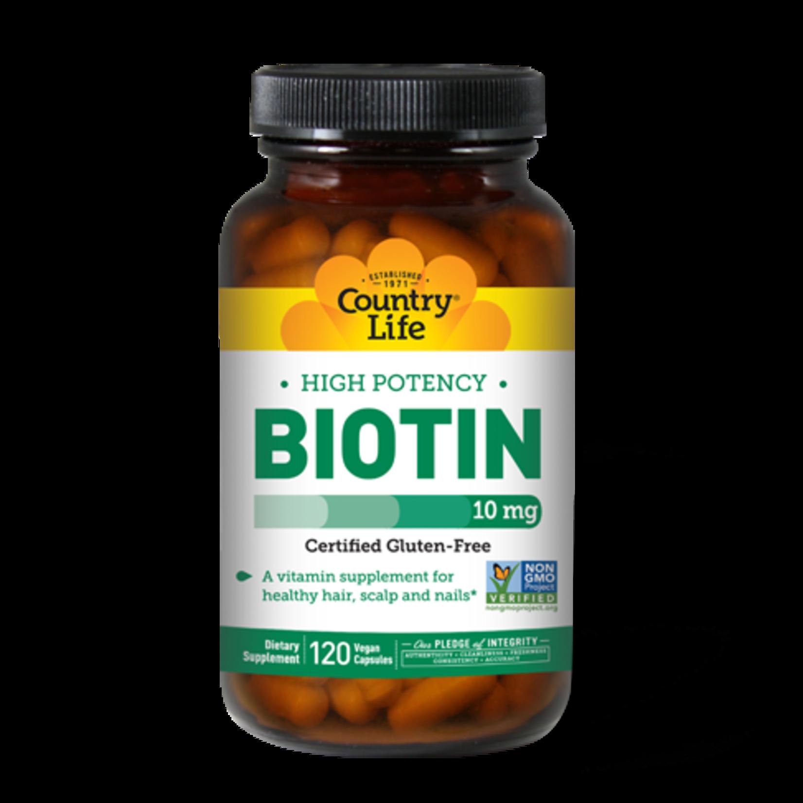 Country Life Country Life High Potency Biotin 10mg