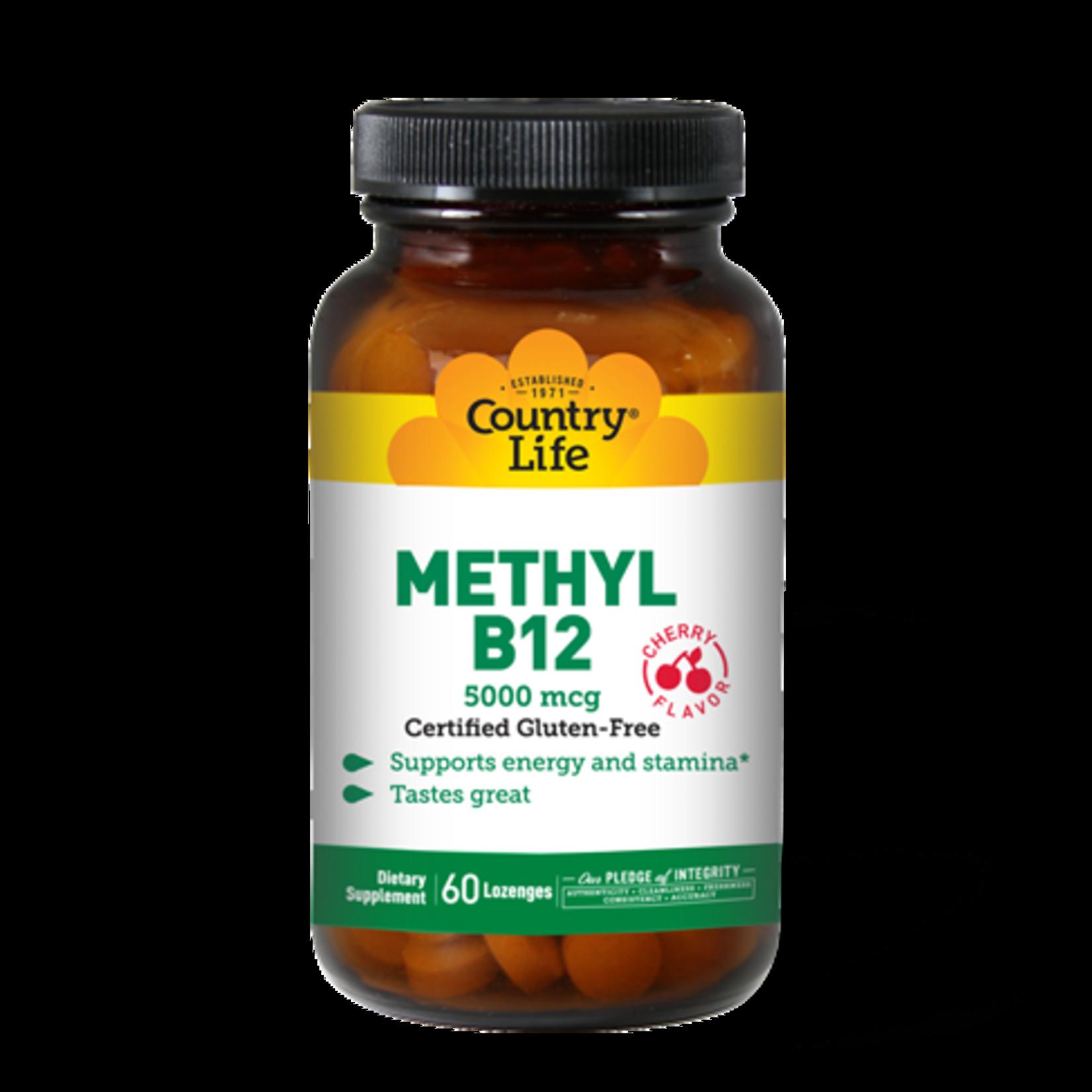 Country Life Country Life Methyl B12 5000mcg 60 Lozenges