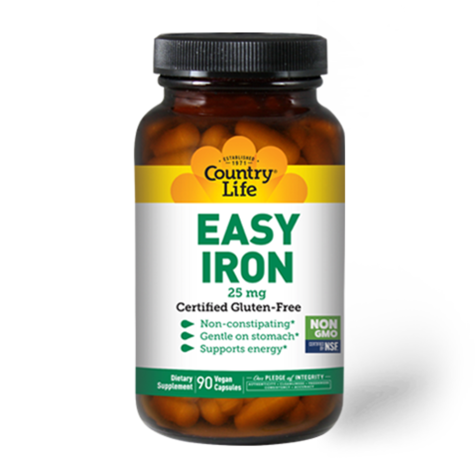 Country Life Country Life Easy Iron 25mg 90 Vegicap