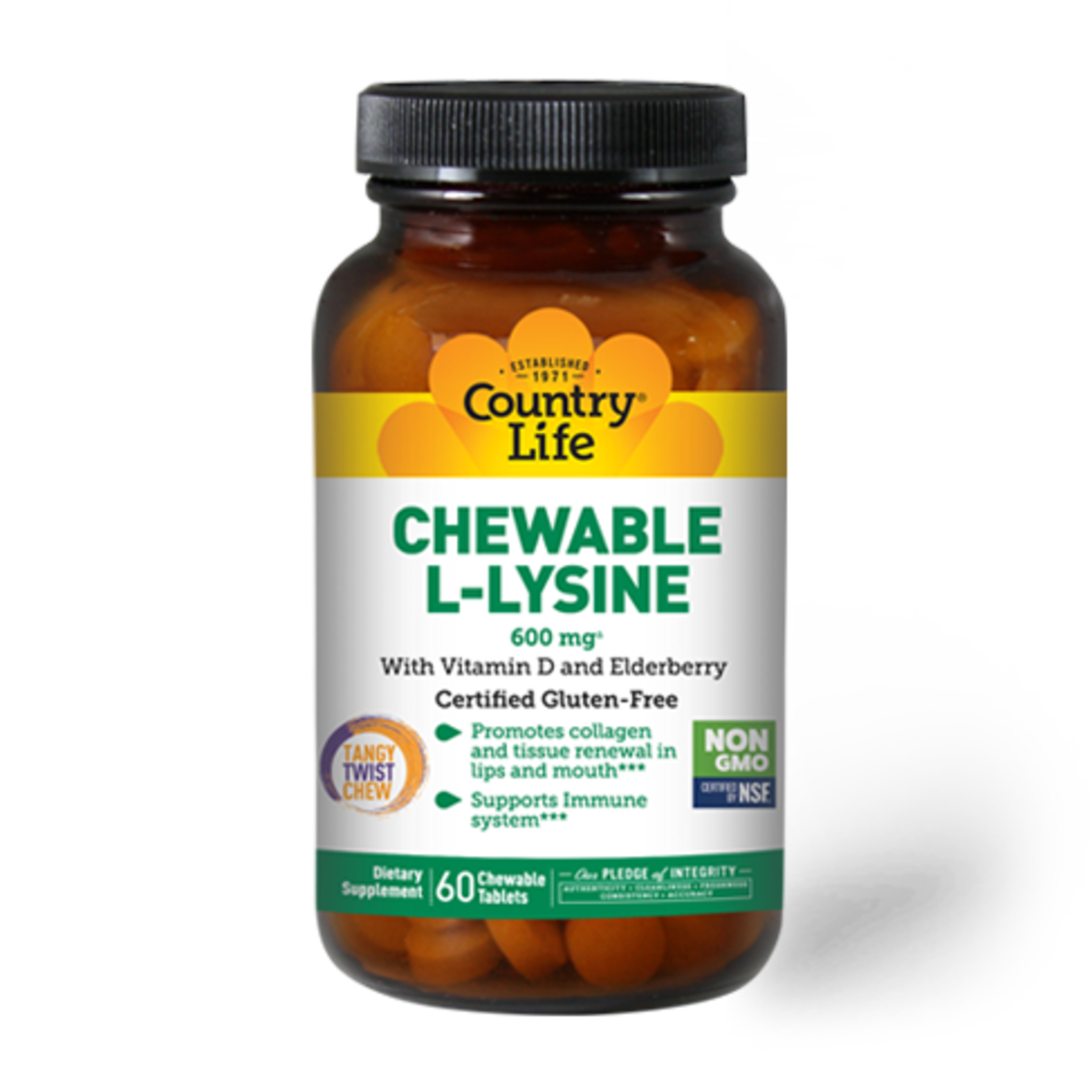 Country Life Country Life Chewable L-Lysine 60ct