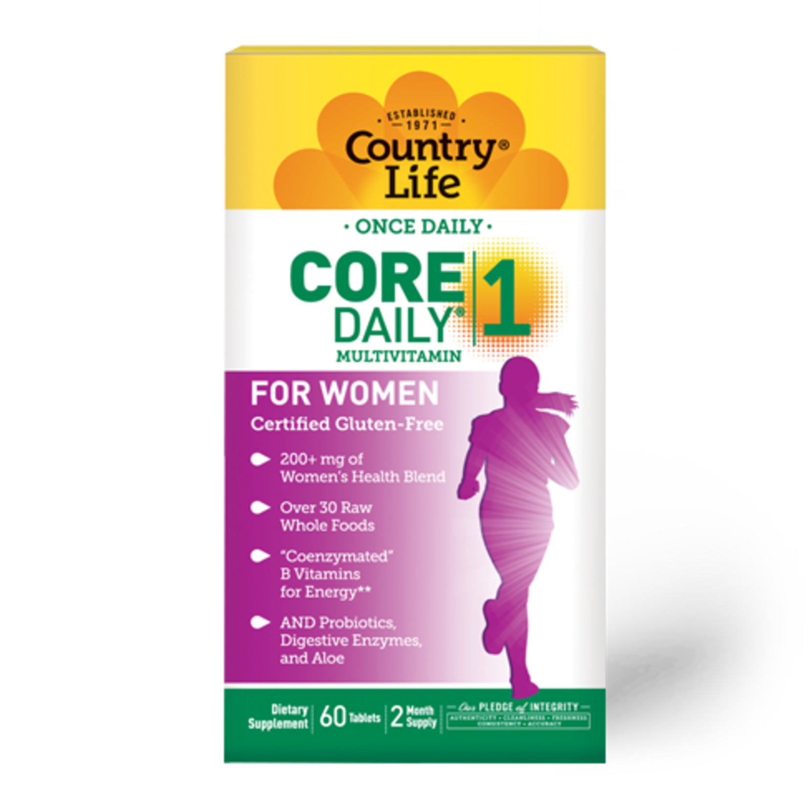 Country Life Country Life Core Daily 1 Multivitamin for Women 60 Tablets