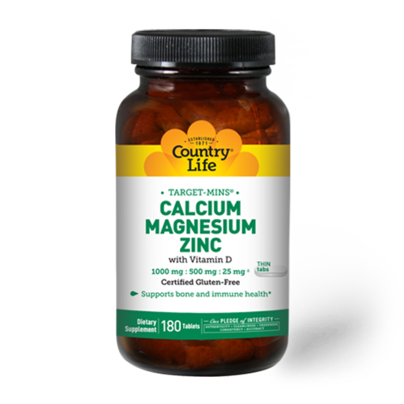 Country Life Country Life Calcium Magnesium Zinc with Vitamin D 180ct