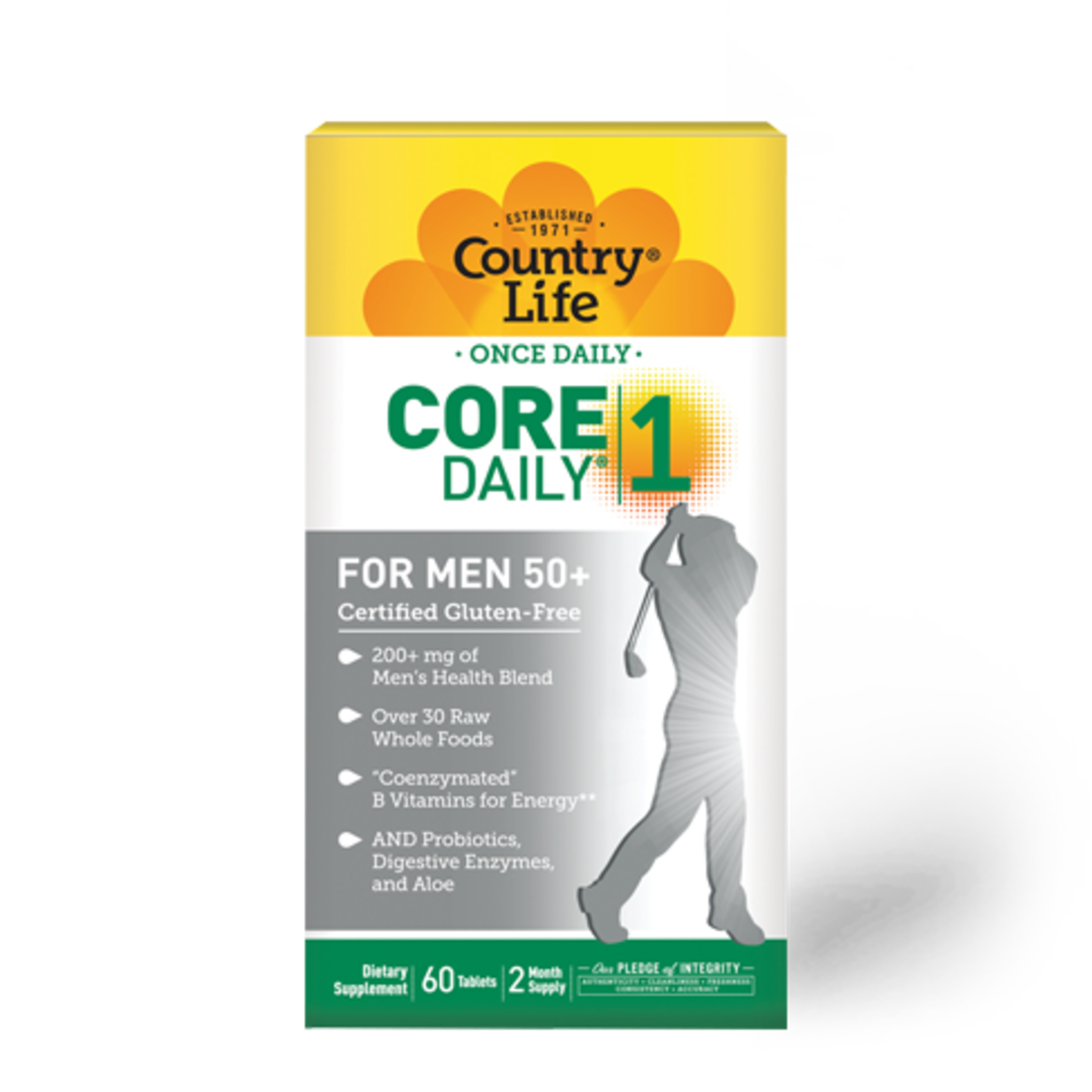 Country Life Country Life Core Daily 1 Multivitamin for Men 50+ 60ct