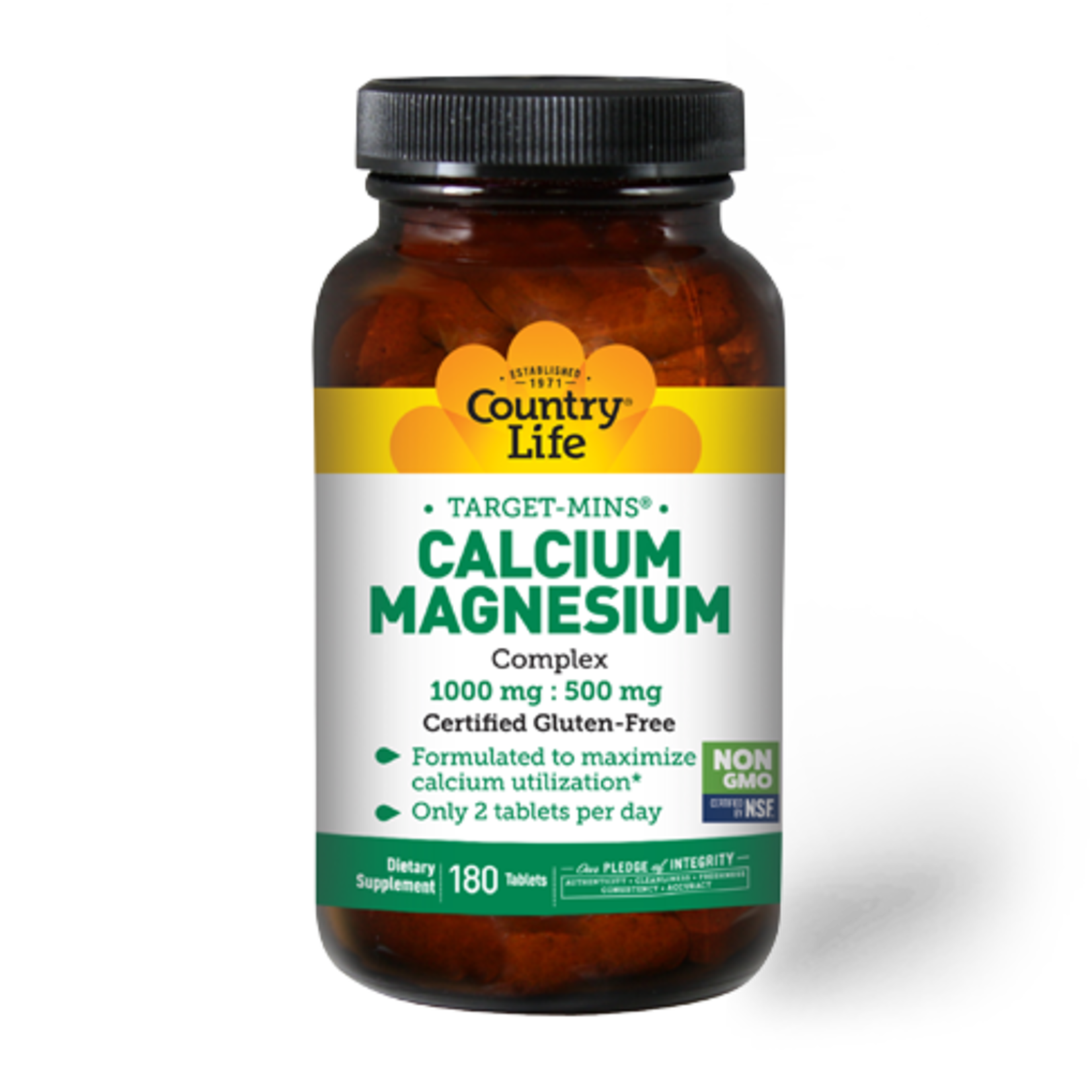 Country Life Country Life Calcium Magnesium 1000mg 180ct