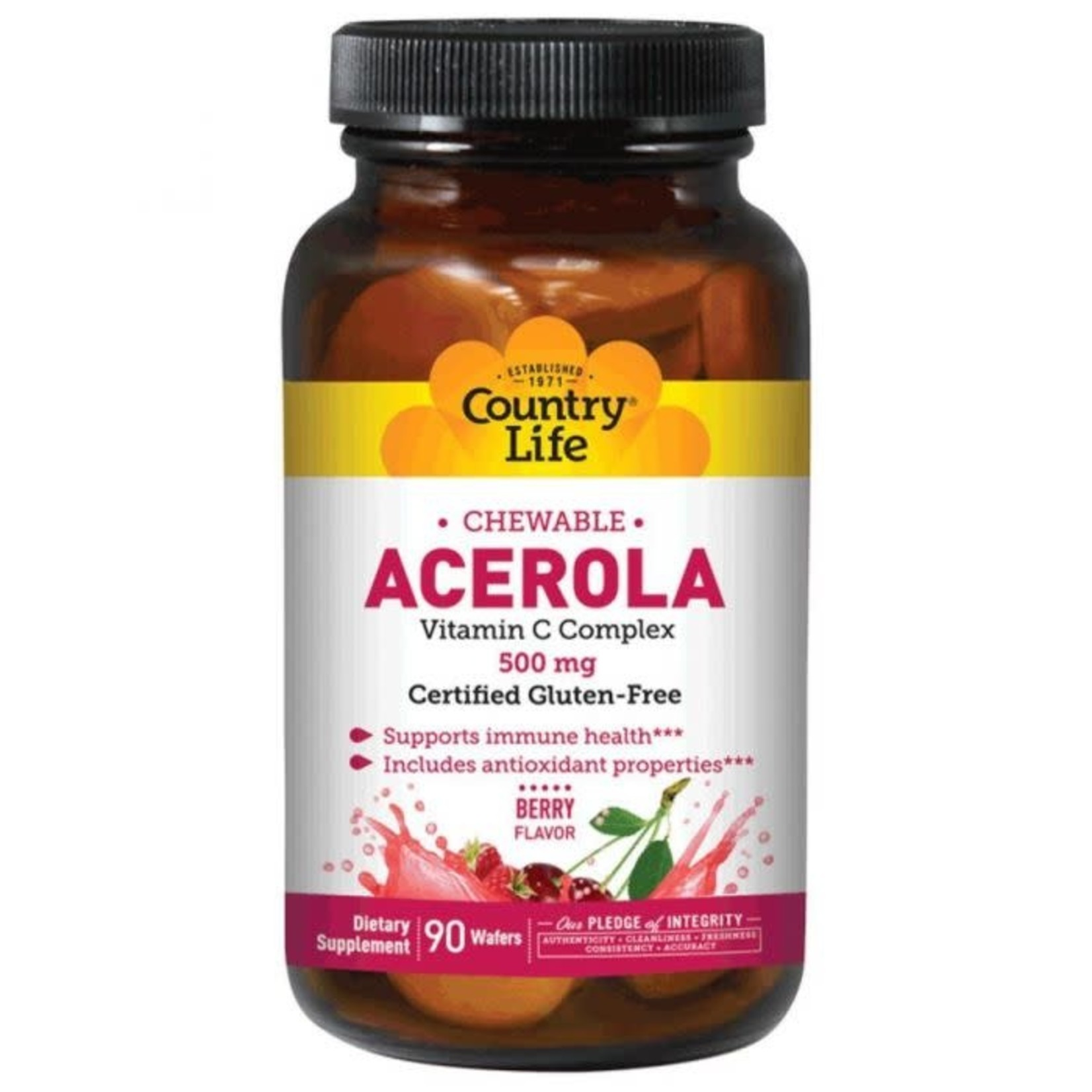 Country Life Country Life Acerola Chewable Vitamin C 500mg 90 Wafers