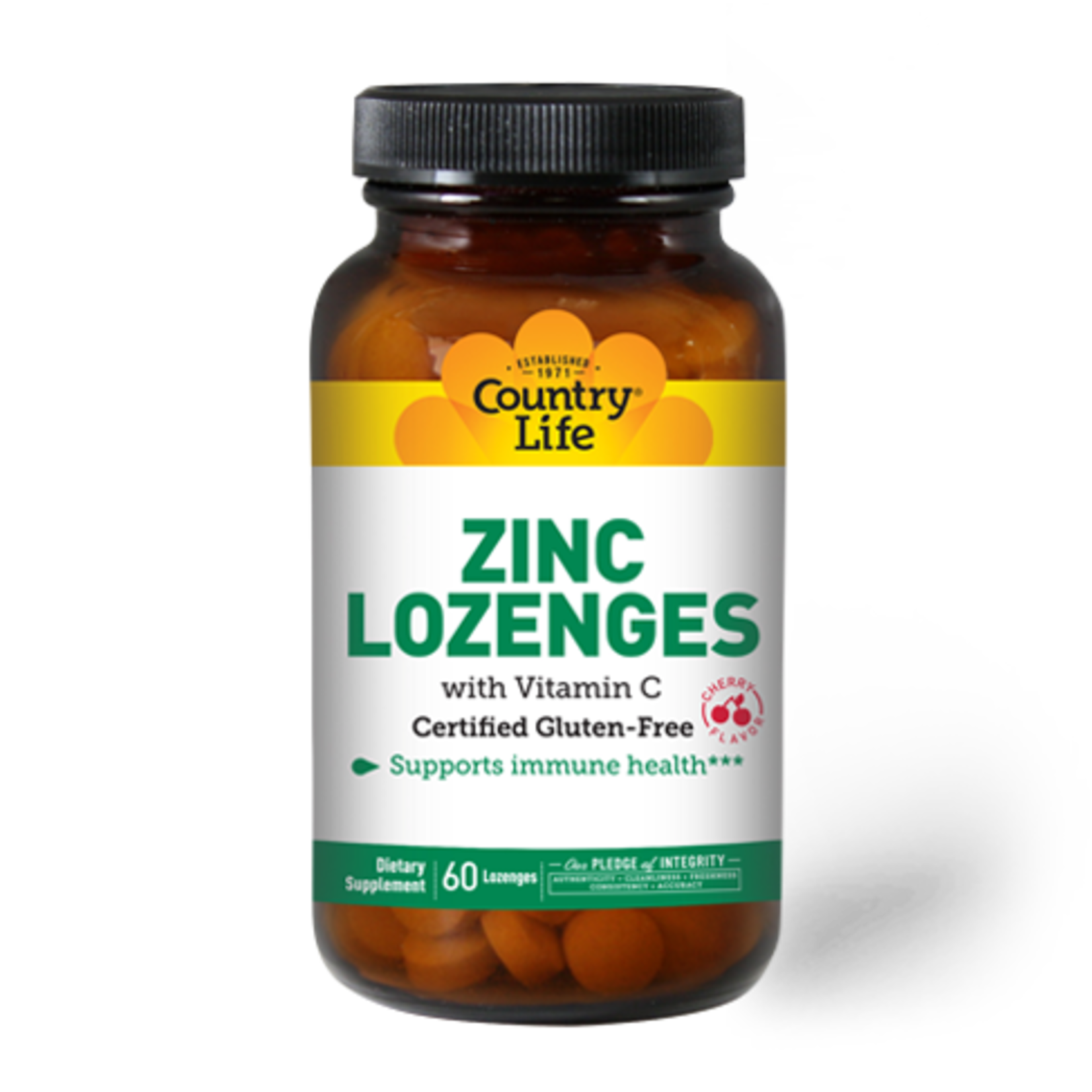 Country Life Country Life Cherry Zinc Lozenges 60