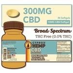 Cypress Hemp Cypress Hemp Broad Spectrum 300mg Softgels