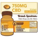 Cypress Hemp Cypress Hemp Broad Spectrum 750mg Softgels