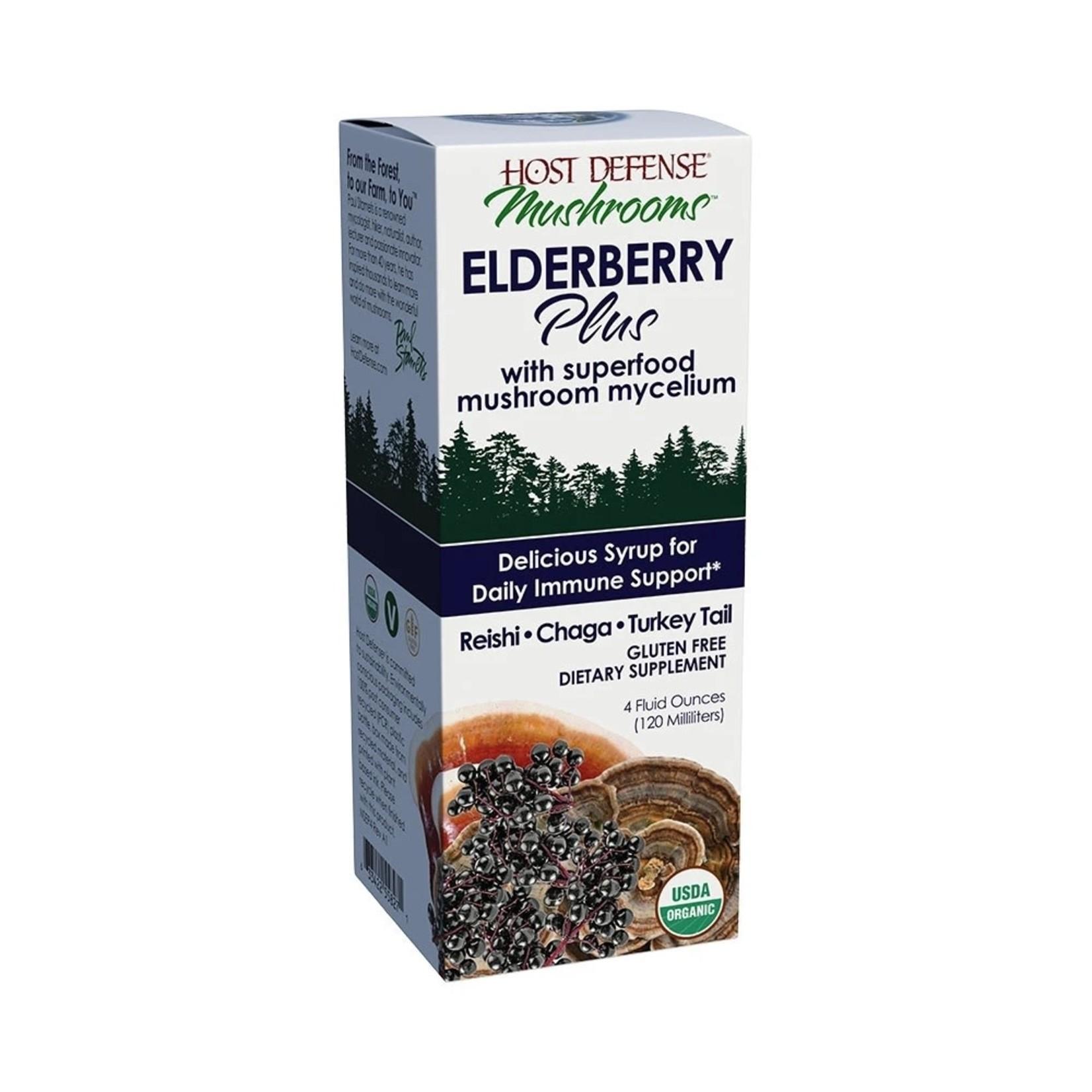 Host Defense HD Elderberry Plus Syrup 4oz
