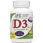 BlueBonnet MNP Vitamin D3 5000iu with K2 90 chewable tablets