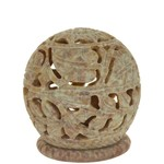 Prabhujis Gifts Soapstone Burner for Cones and Candles