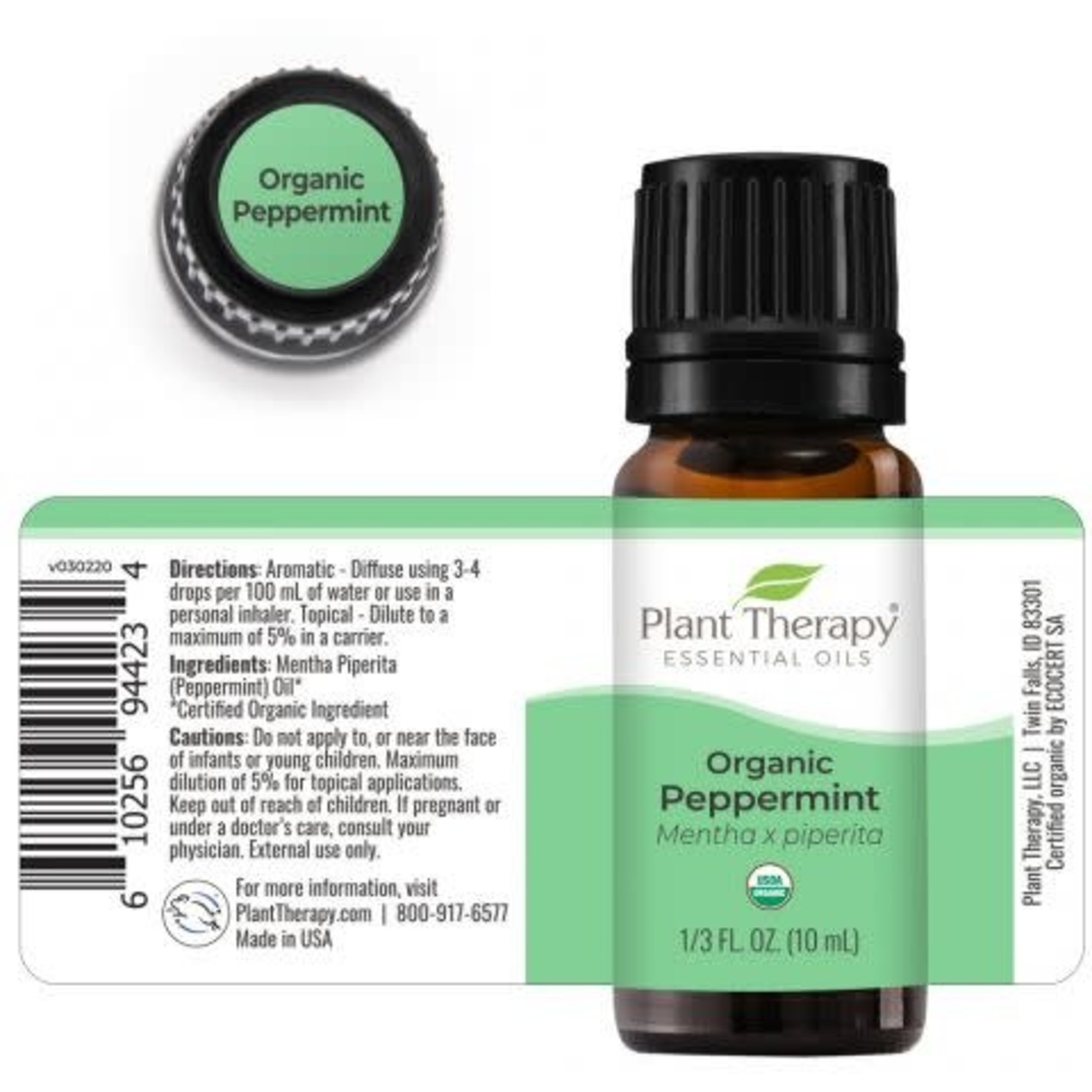 Plant Therapy PT Peppermint Organic Essential Oil