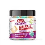 Chill 1250mg Delta 8 Fruity Mix Gummies 50ct