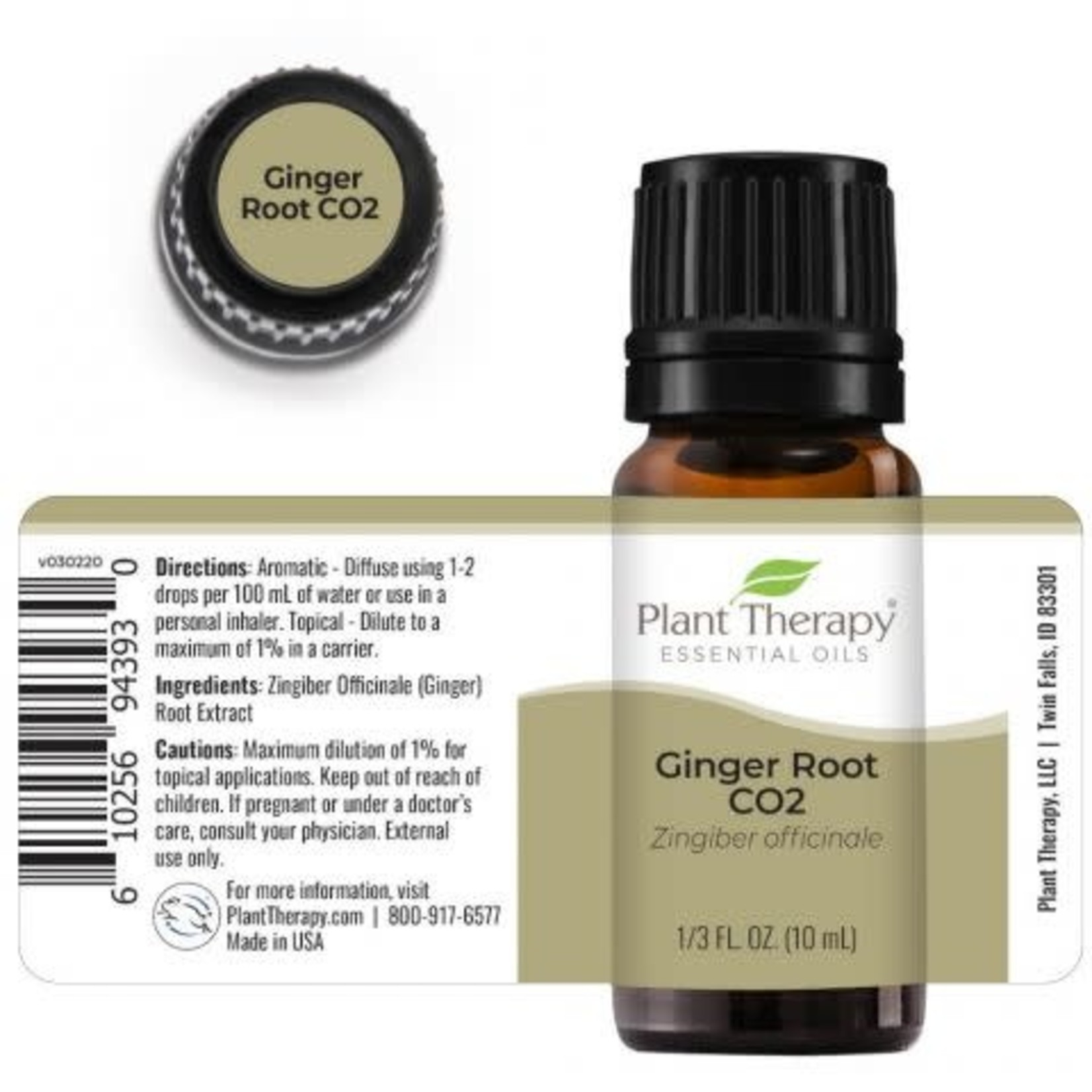 Plant Therapy PT Ginger Root CO2 Essential Oil 10ml