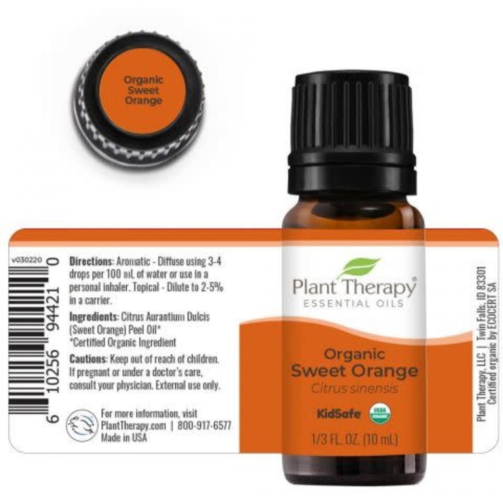 Plant Therapy PT Organic Sweet Orange Essential Oil 10ml