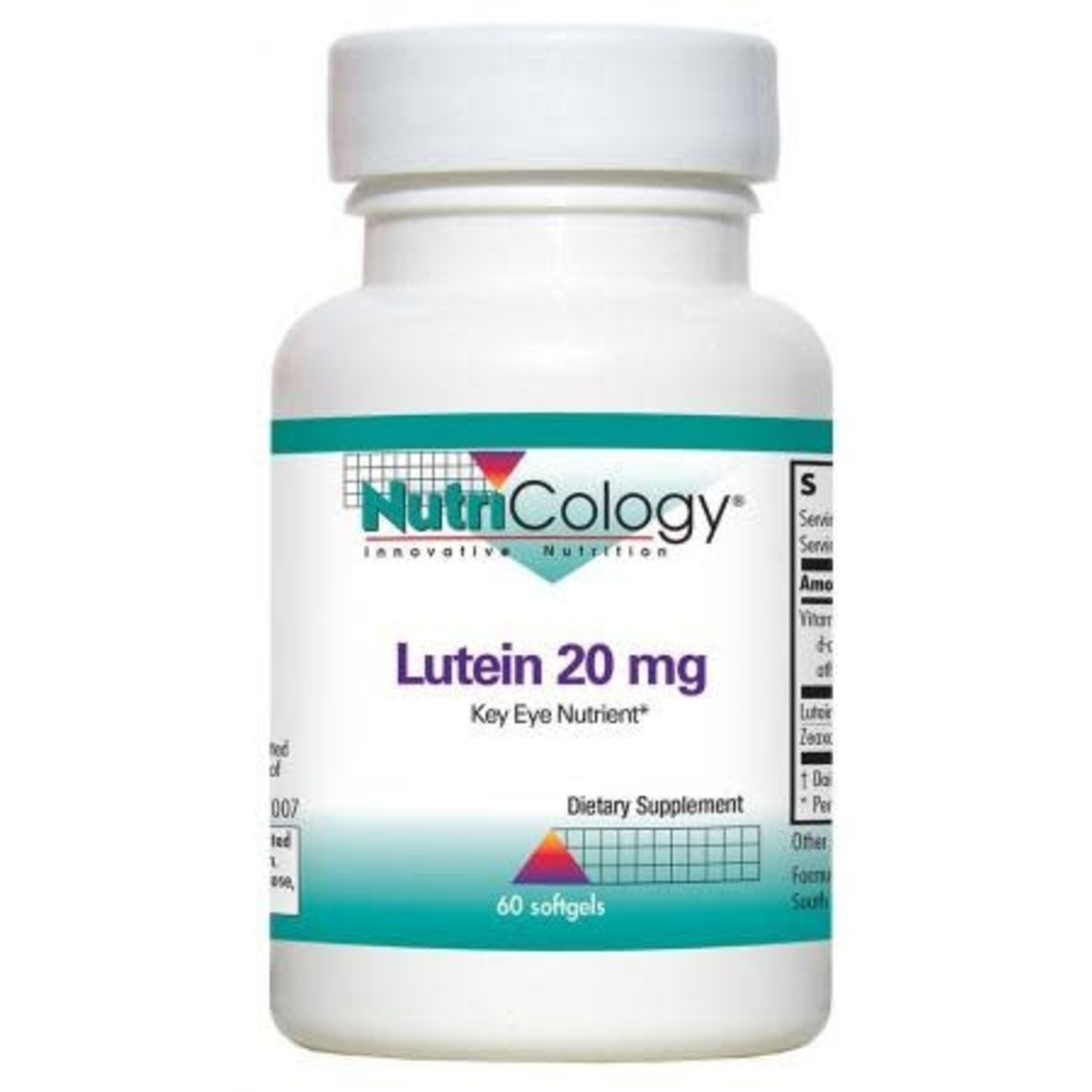 NutriCology NutriCology Lutein 20mg 60 softgels