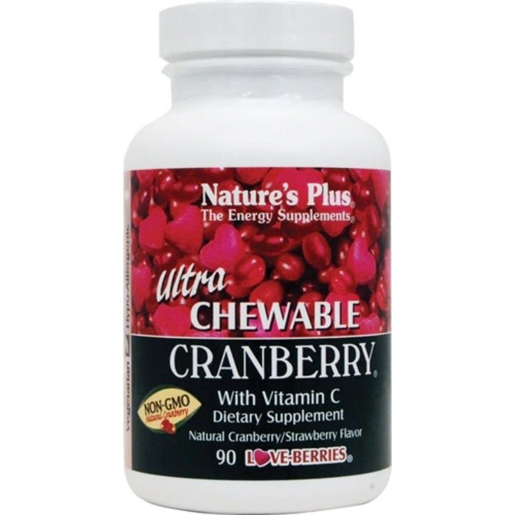 Natures Plus Cranberry Chewable with Vitamin C 90ct