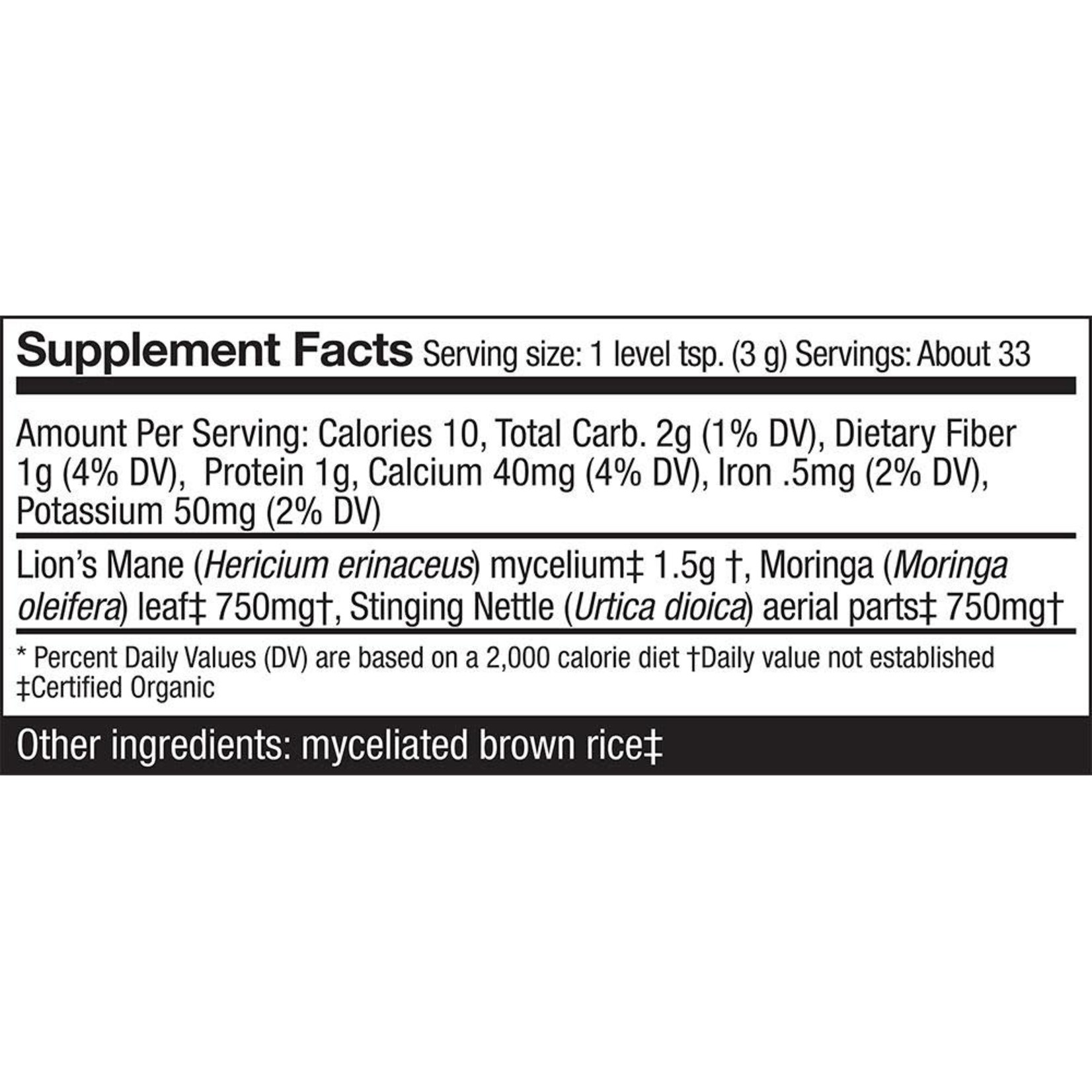 Host Defense HD Greens Superfood Nutrition 3.5oz