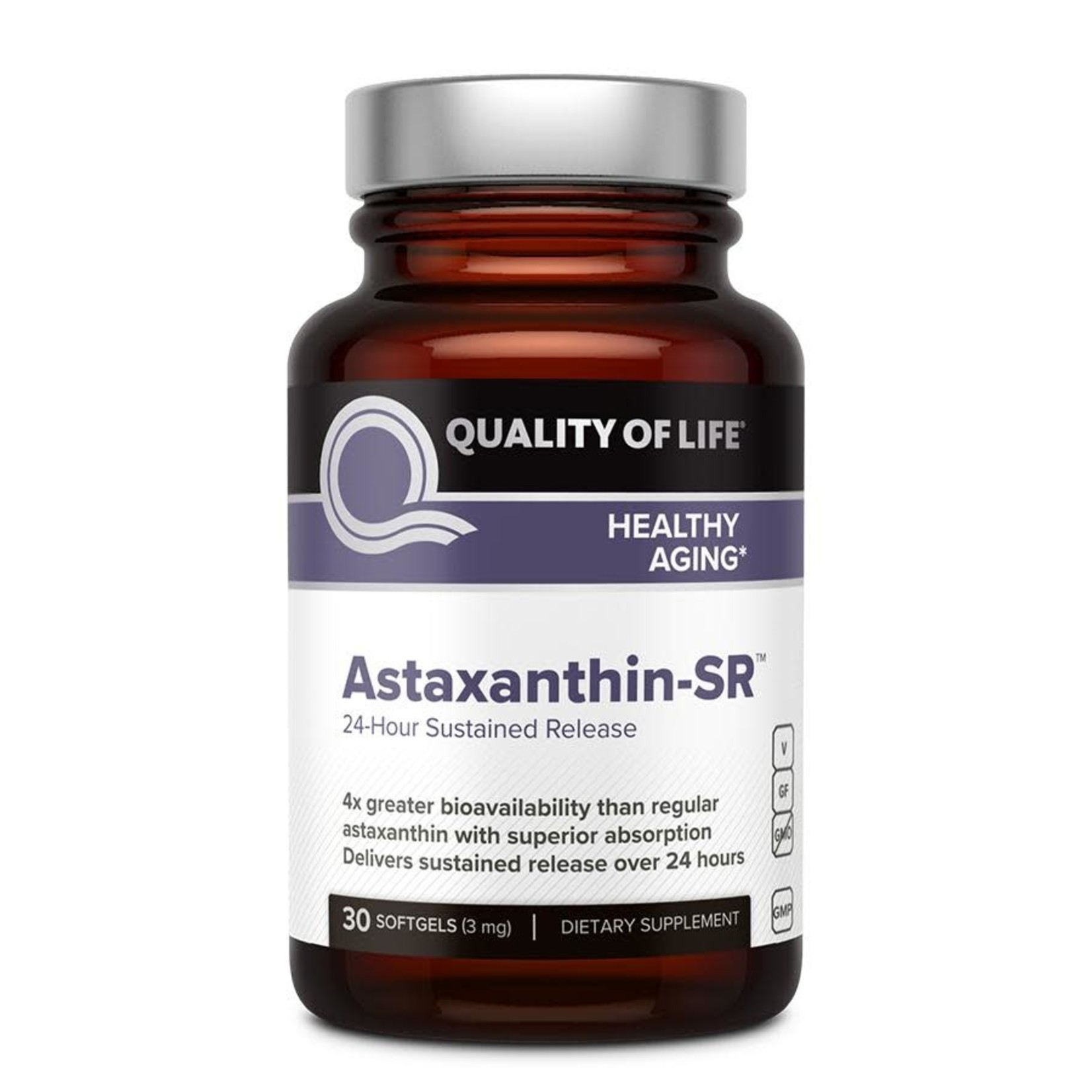Quality of Life QOL Astaxanthin Sustained Release 30 softgels