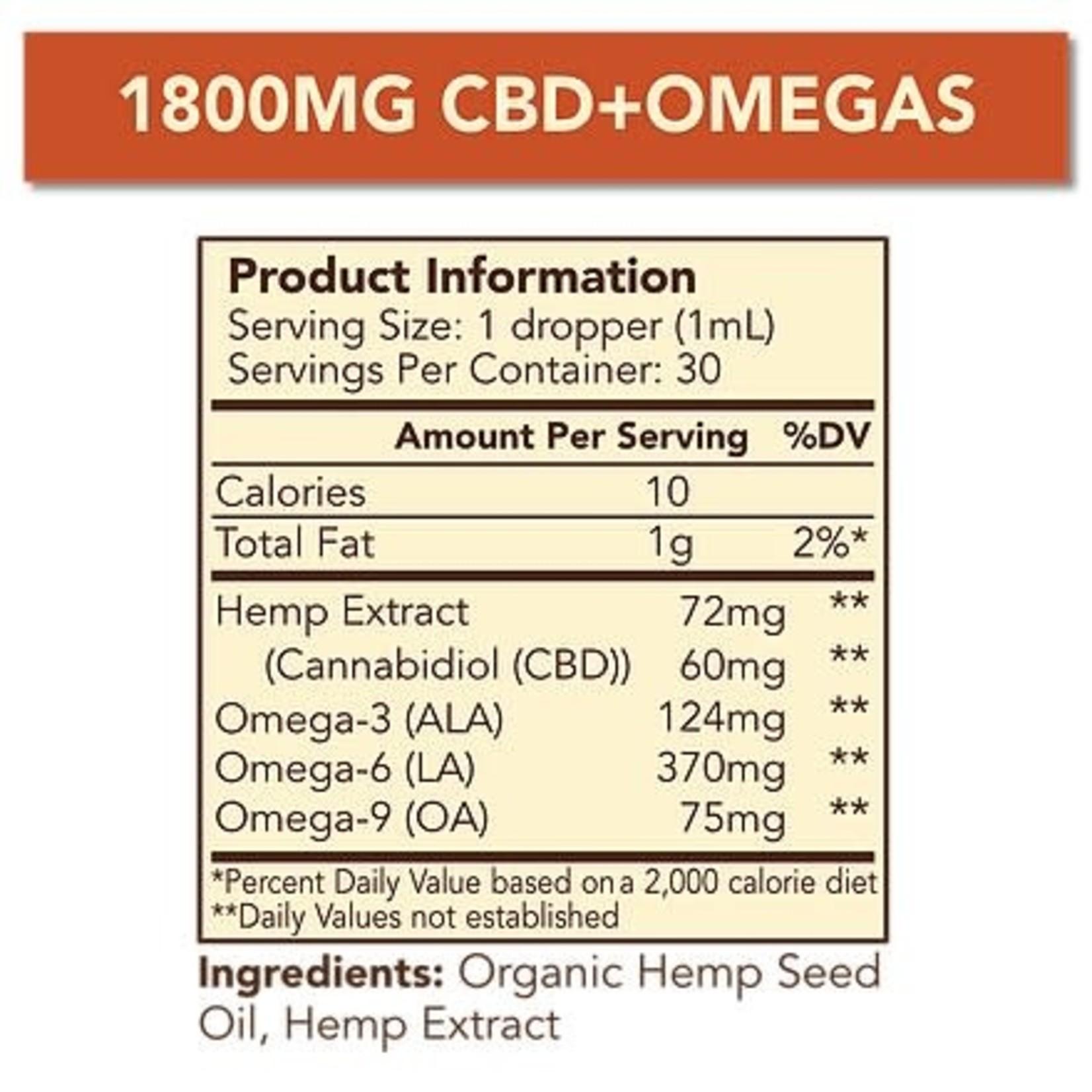 Cypress Hemp Cypress CBD + Omegas Broad Spectrum 1800mg