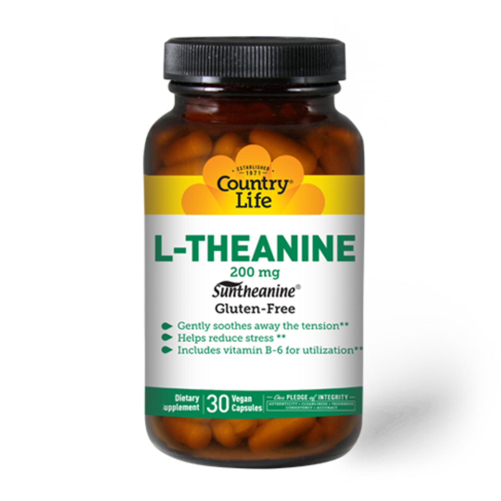Country Life Country Life L-Theanine 200mg 30 Vegan Capsules