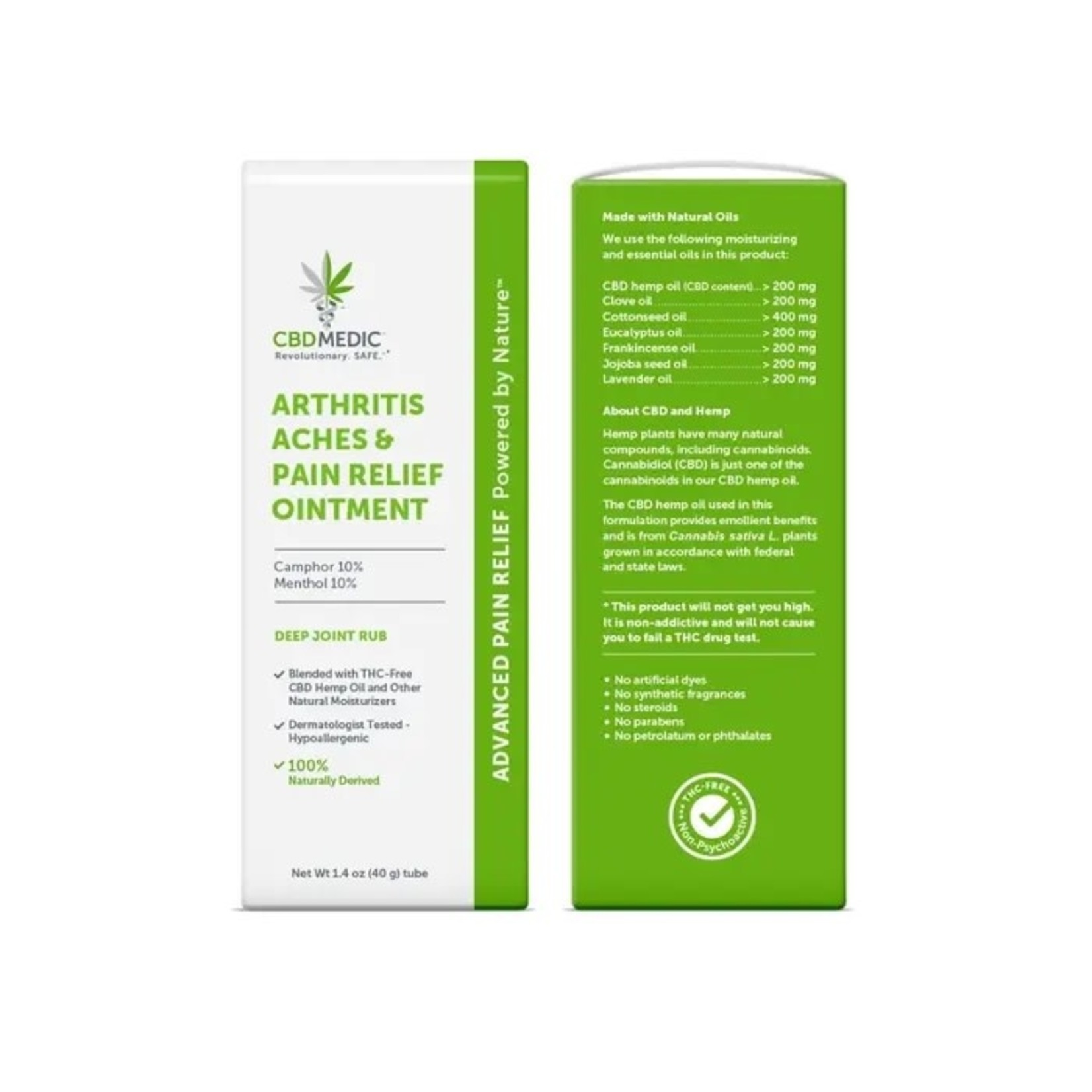 CBD Medic CBD Medic Arthritis Aches & Pain Relief Cream 1.7oz