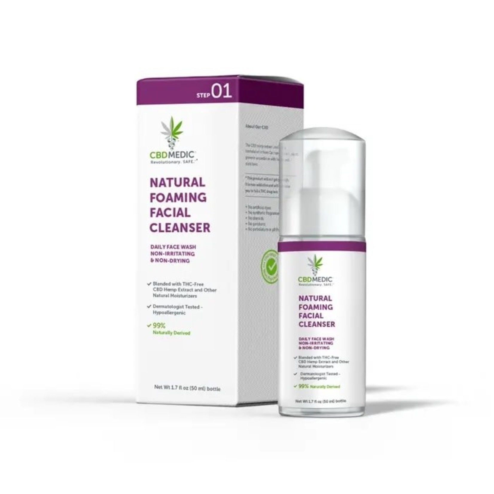 CBD Medic CBD Medic Natural Foaming Acne Facial Cleanser 1.7oz